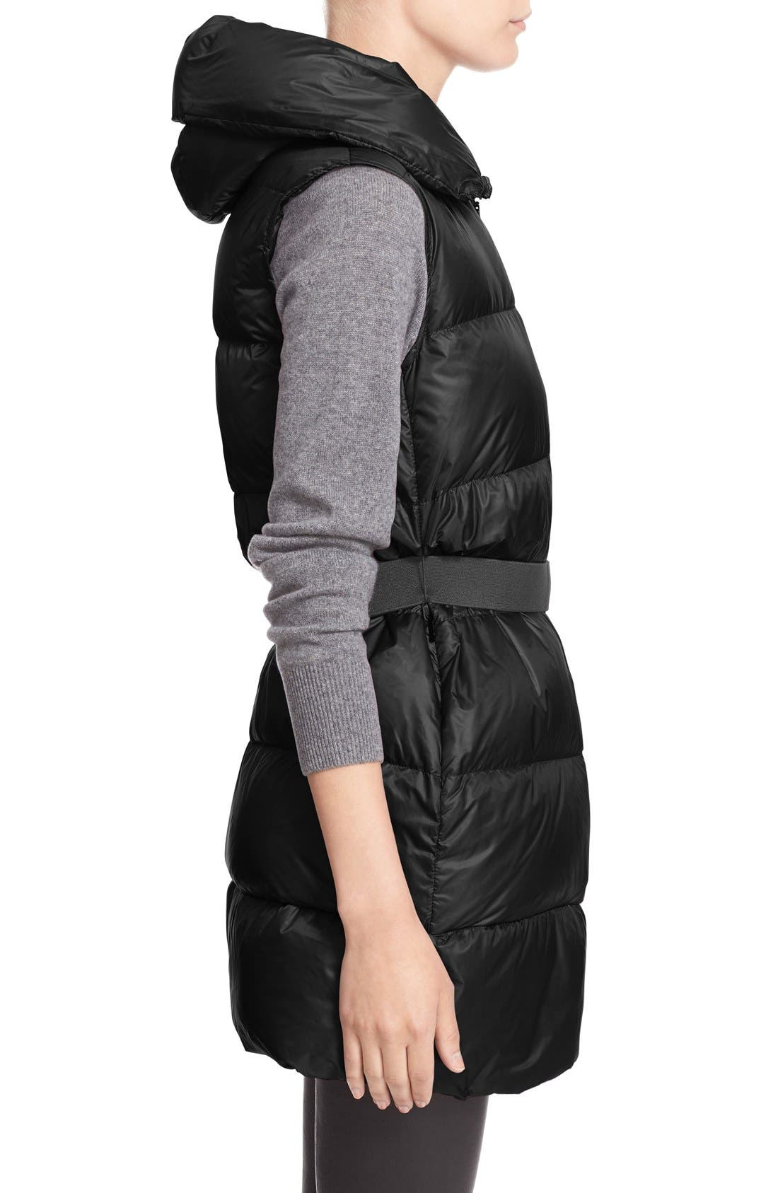 'Glykeria' Water Resistant Hooded Down Puffer Vest,                             Alternate thumbnail 5, color,                             001