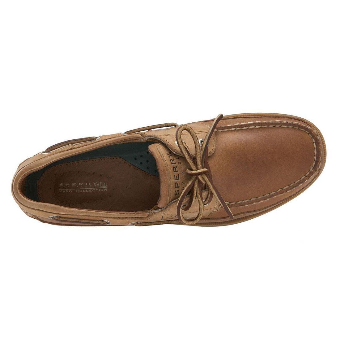 Top-Sider<sup>®</sup> 'Mako Two-Eye Canoe Moc' Boat Shoe,                             Alternate thumbnail 8, color,