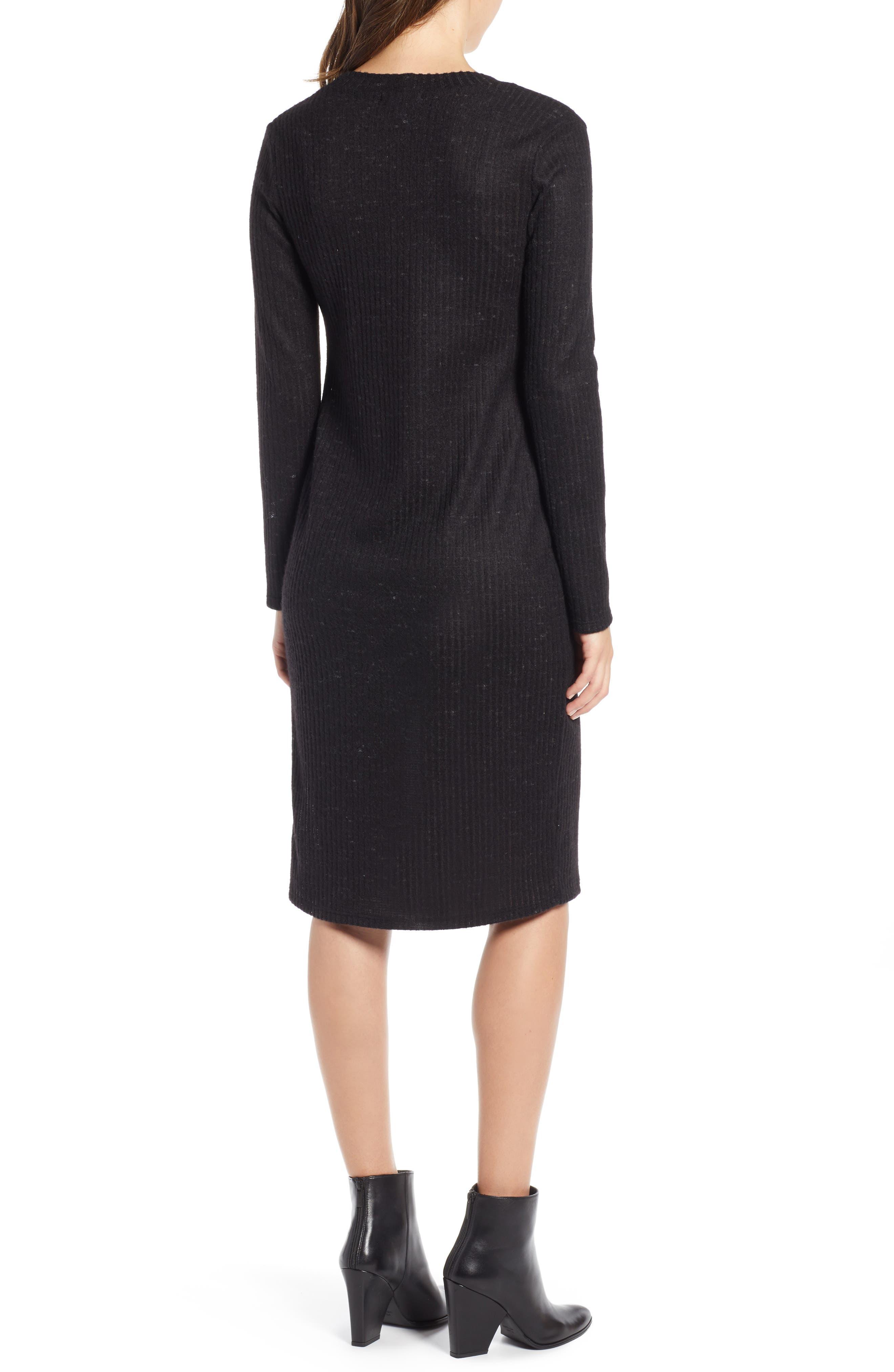 SOCIALITE,                             Sweater Dress,                             Alternate thumbnail 2, color,                             BLACK