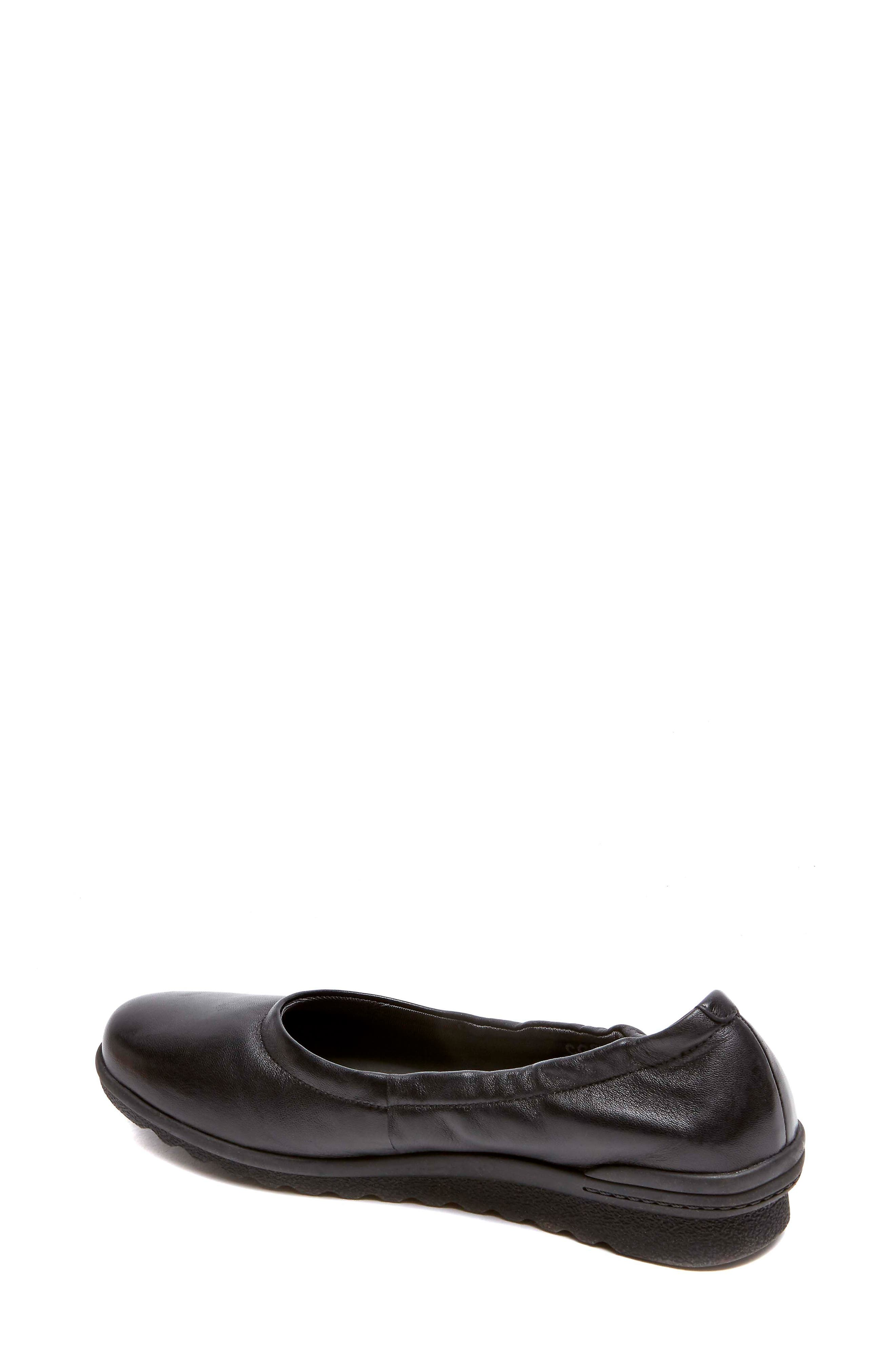 Chenole Ballet Flat,                             Alternate thumbnail 2, color,                             BLACK LEATHER