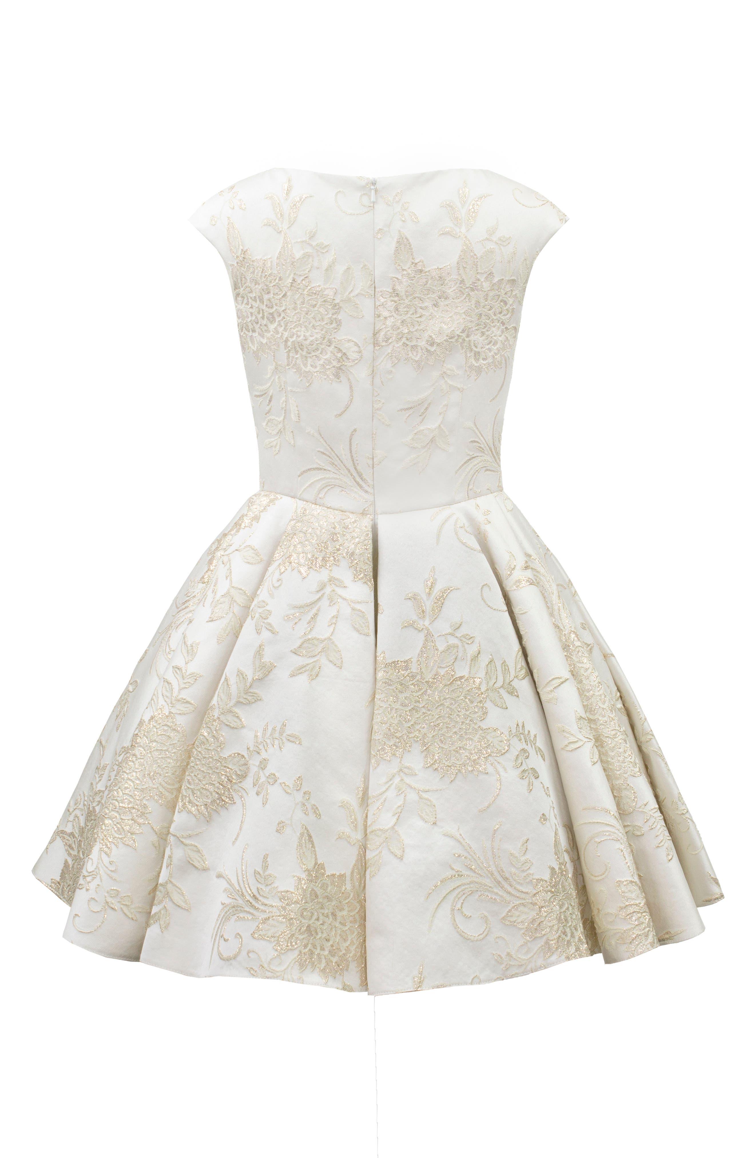 Brocade Dress,                             Alternate thumbnail 2, color,                             101