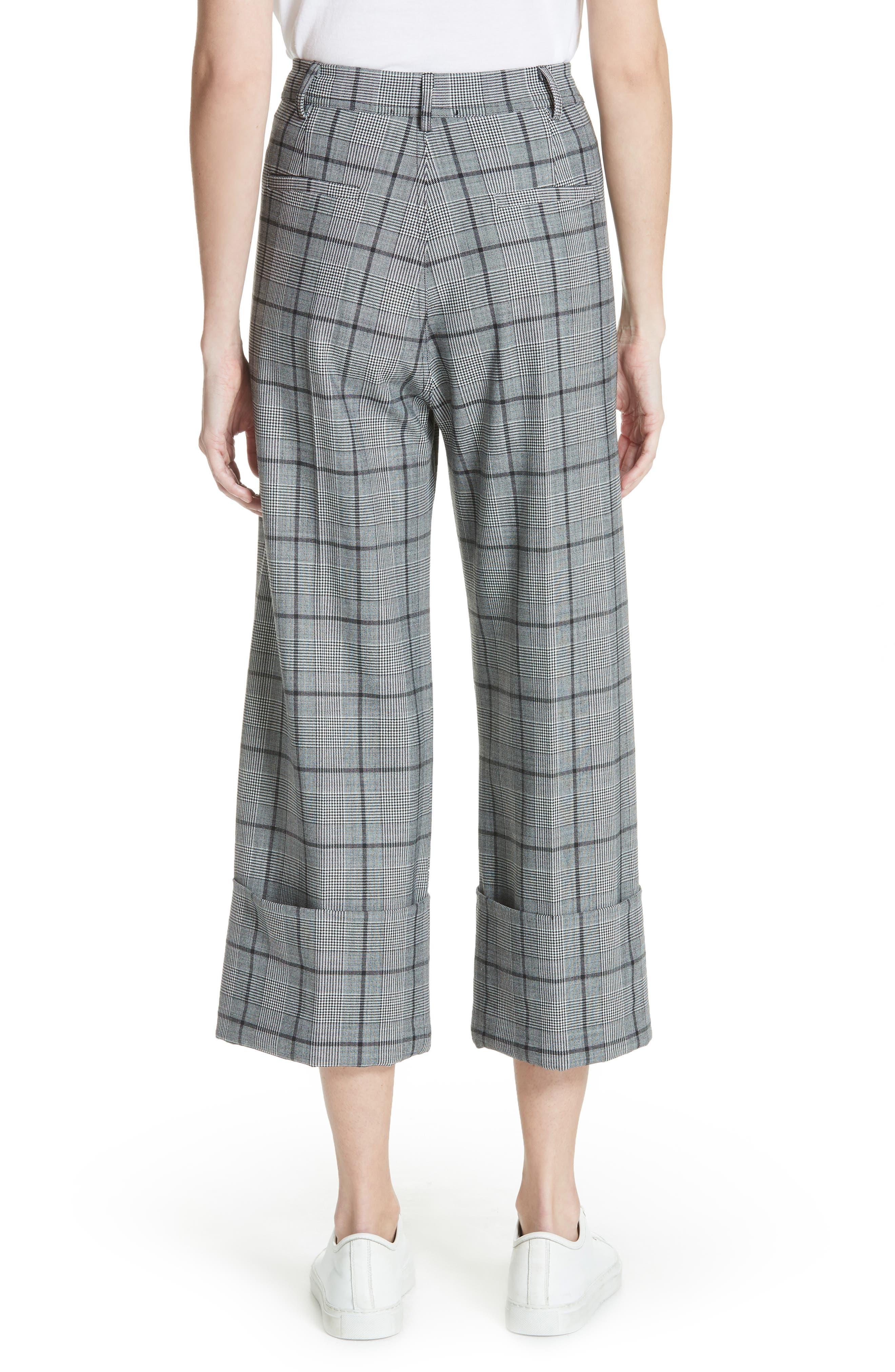 Bacall Cuff Crop Wide Leg Pants,                             Alternate thumbnail 2, color,                             028
