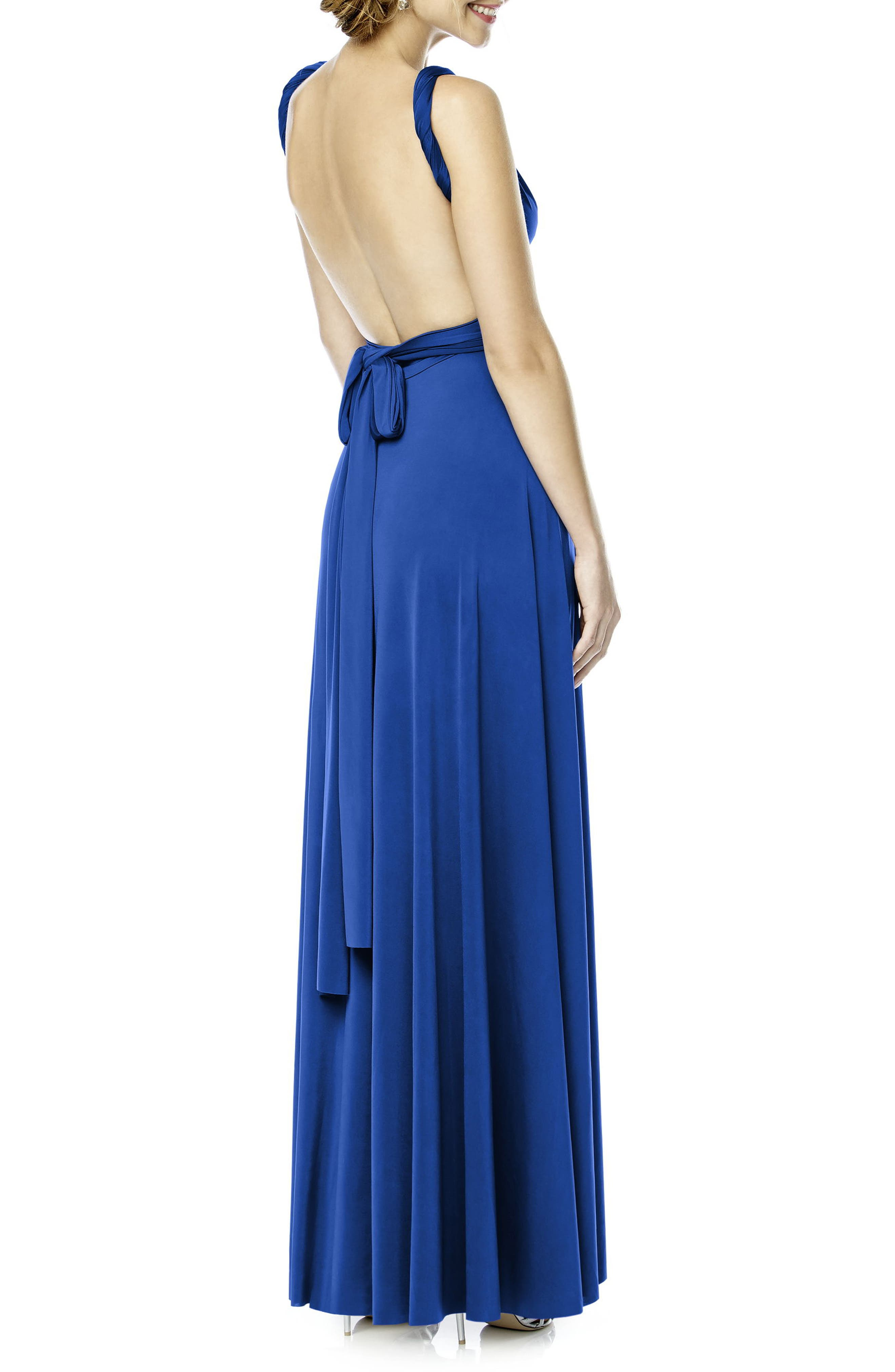 Convertible Wrap Tie Surplice Jersey Gown,                             Alternate thumbnail 28, color,