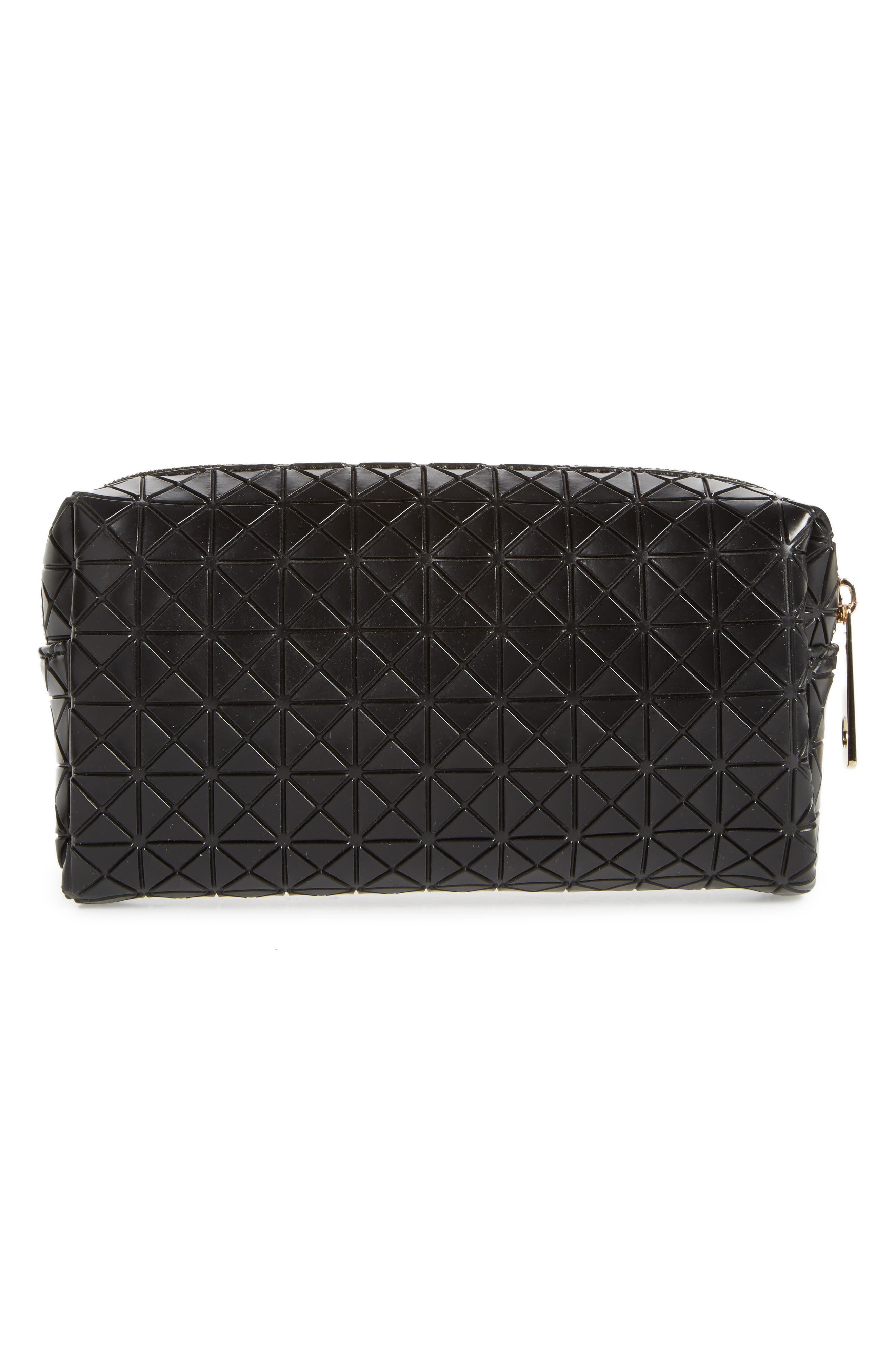 Diamond Embossed Cosmetics Bag,                             Alternate thumbnail 2, color,                             001