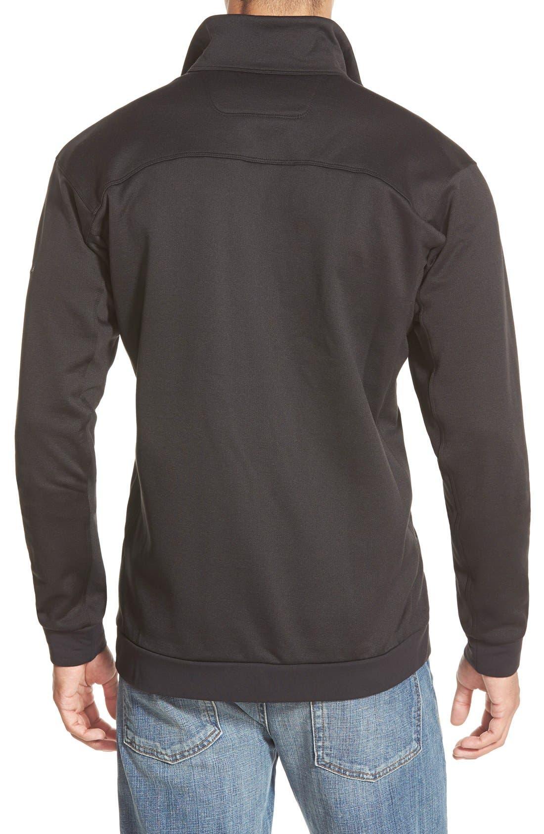'Straibo' Midweight Technical Fleece Jacket,                             Alternate thumbnail 3, color,                             001