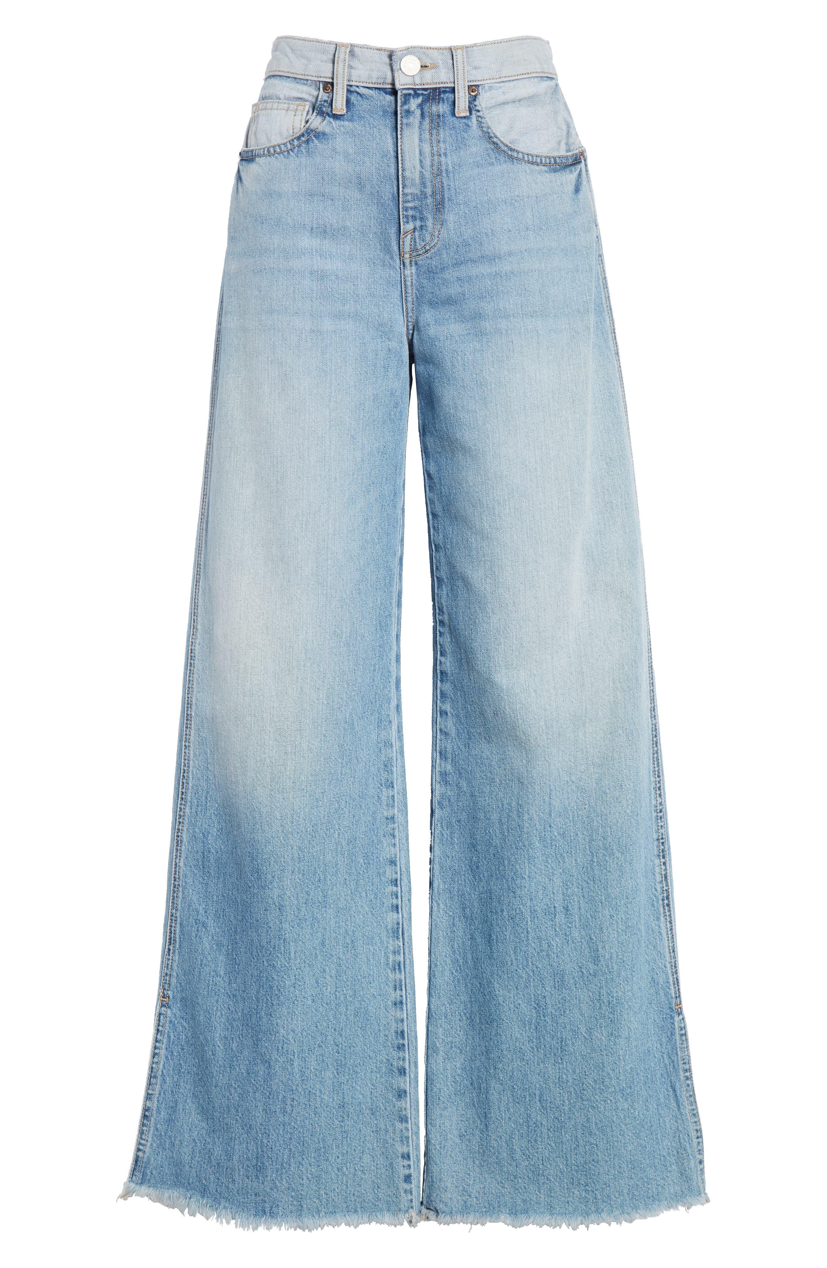 Isemene Wide Leg Jeans,                             Alternate thumbnail 7, color,                             450