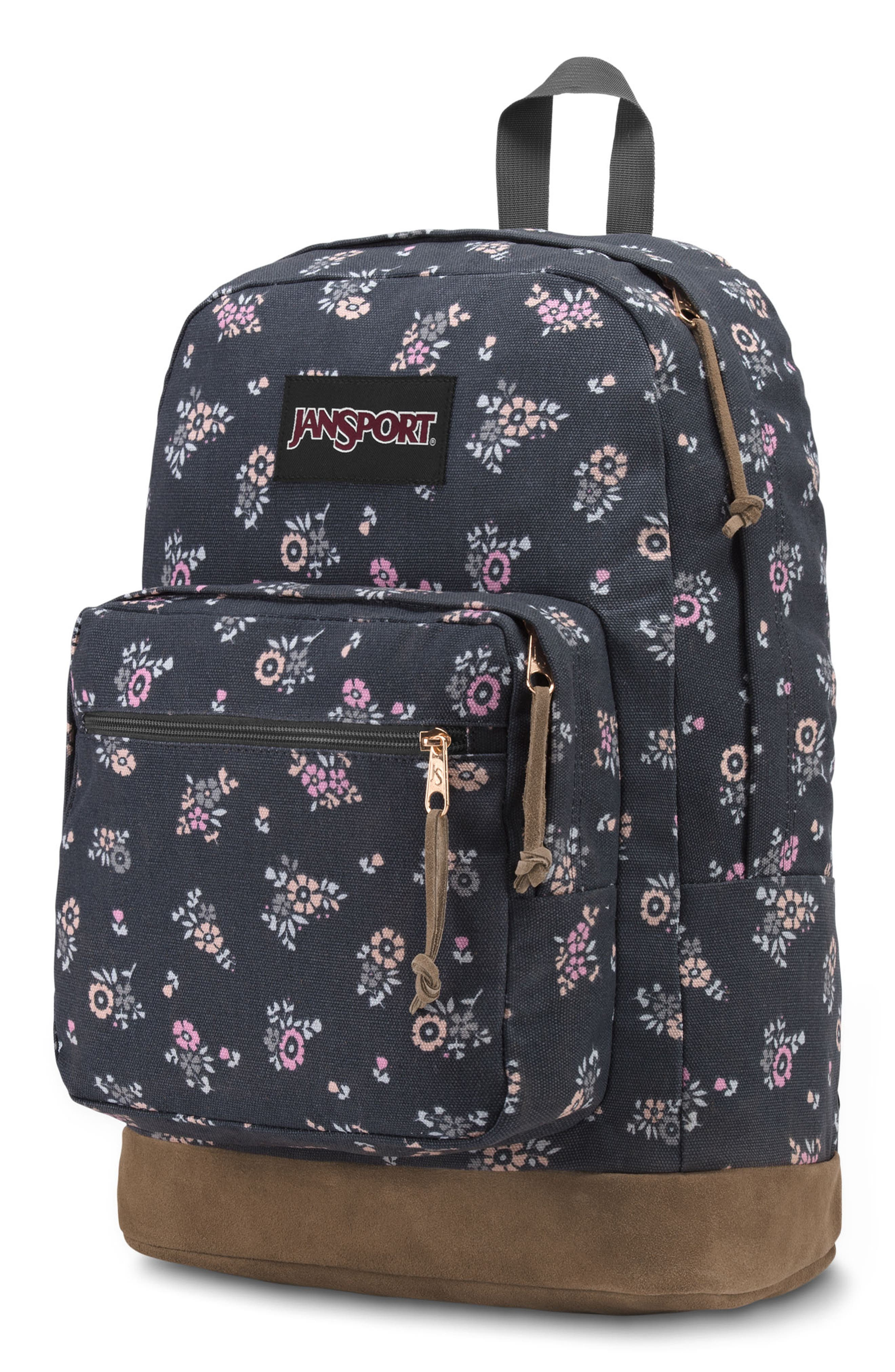 Right Pack Expressions Backpack,                             Alternate thumbnail 4, color,                             TINY BLOOMS