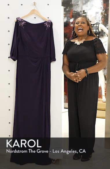 Embellished Split Sleeve Gown, sales video thumbnail