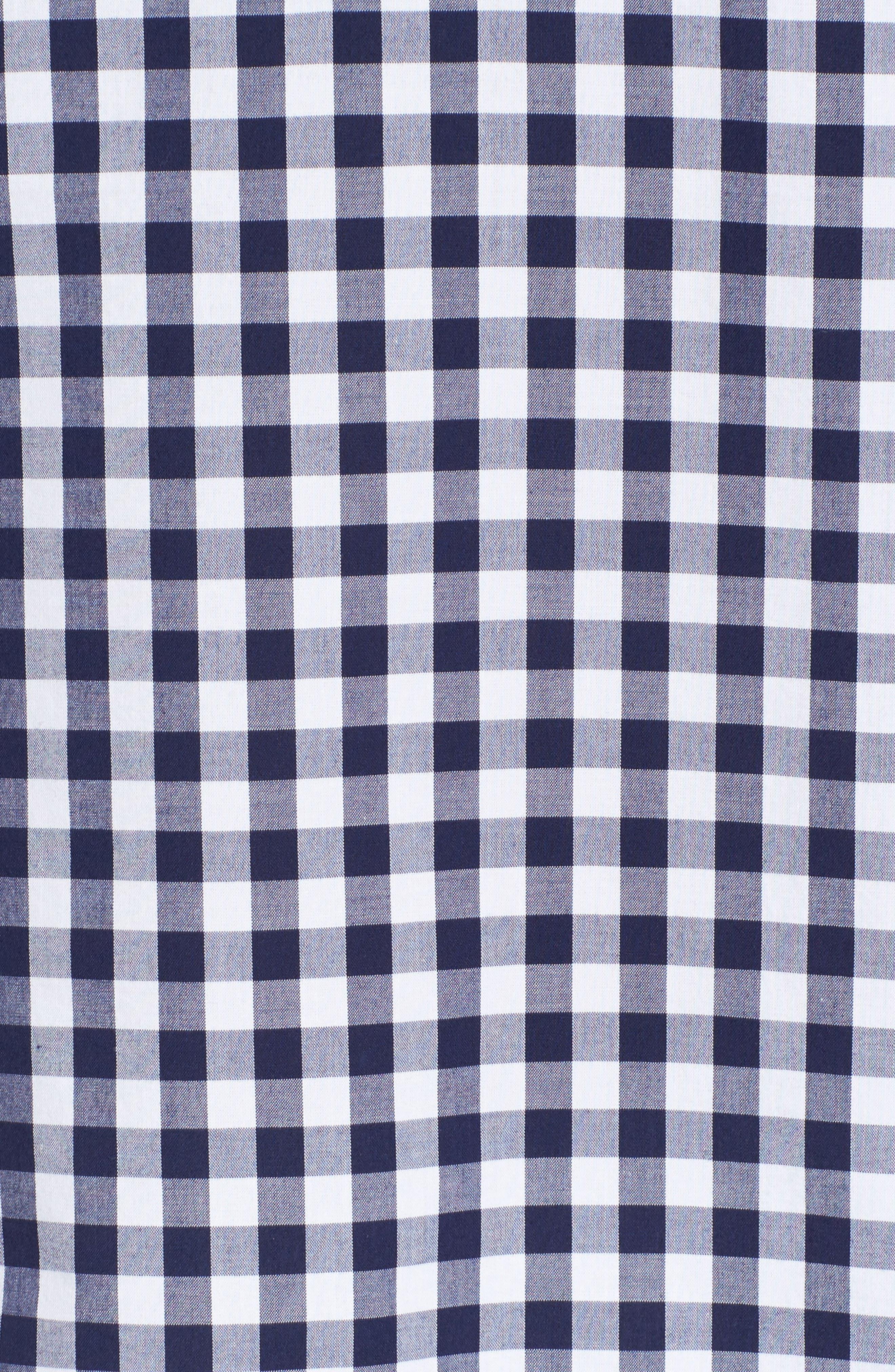 Mixed Gingham Tie Sleeve Top,                             Alternate thumbnail 5, color,                             476