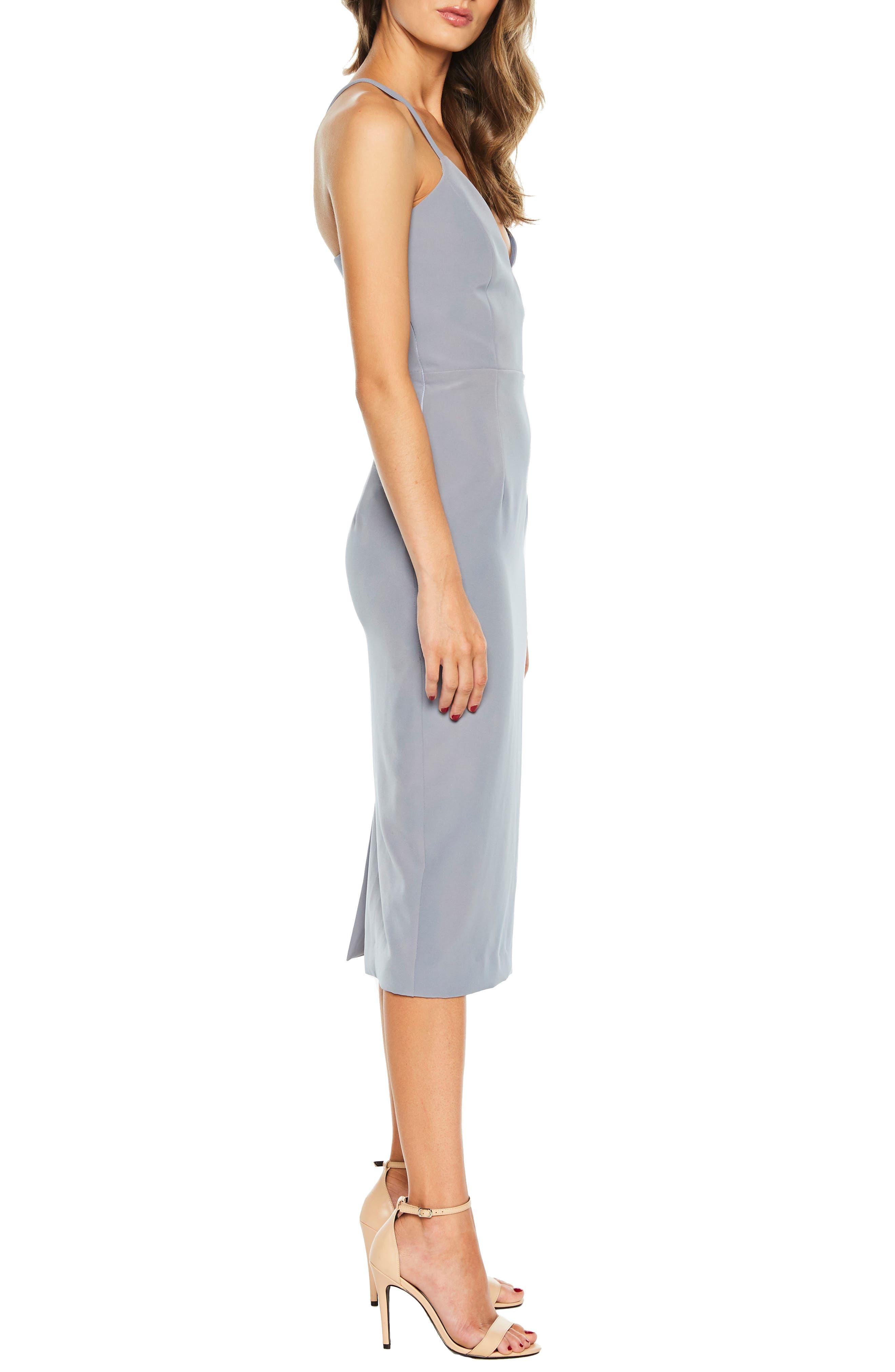 Asymmetrical Open Back Dress,                             Alternate thumbnail 3, color,                             425
