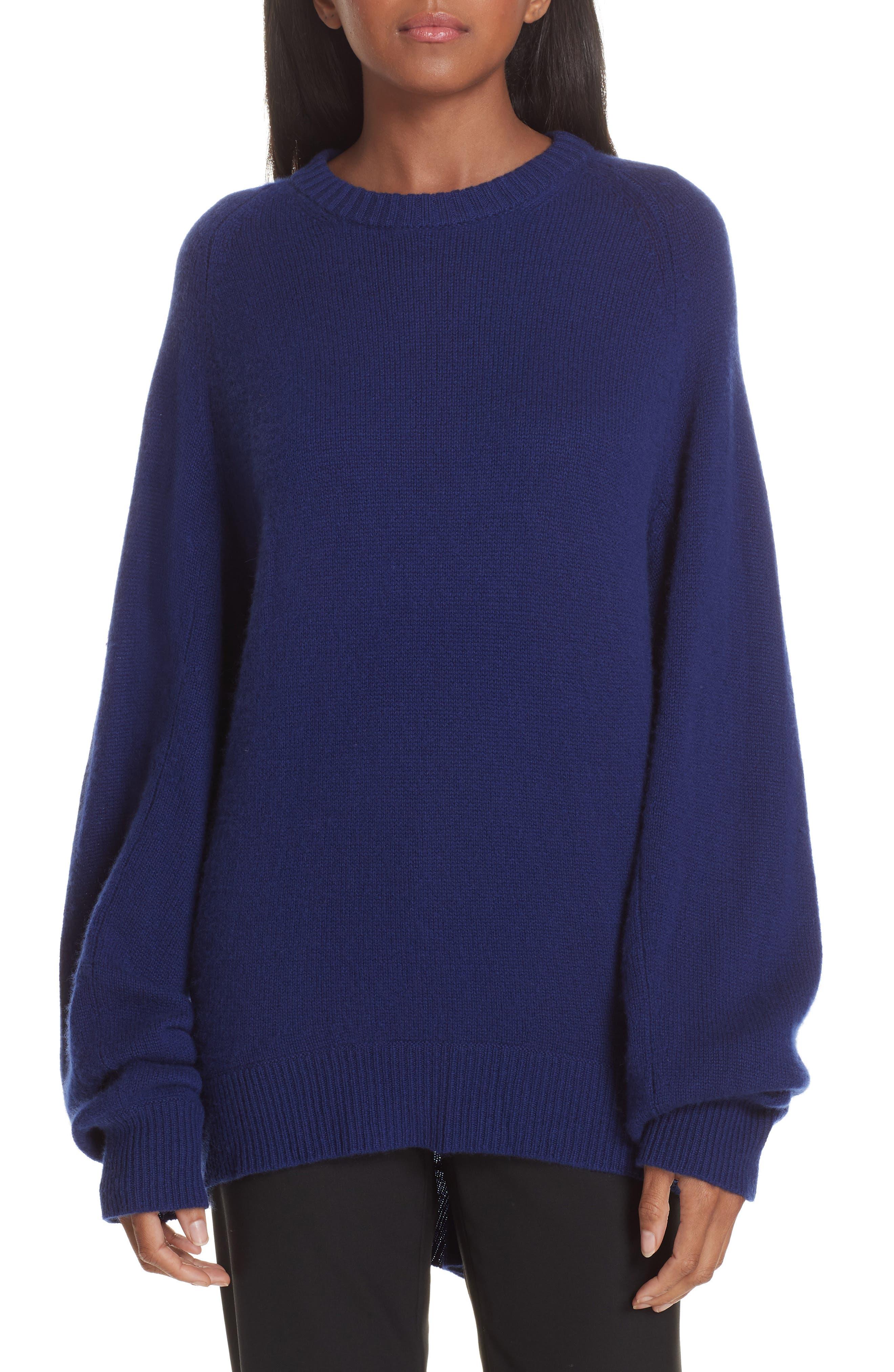Cashmere Sweater,                             Main thumbnail 1, color,                             PERSIAN BLUE