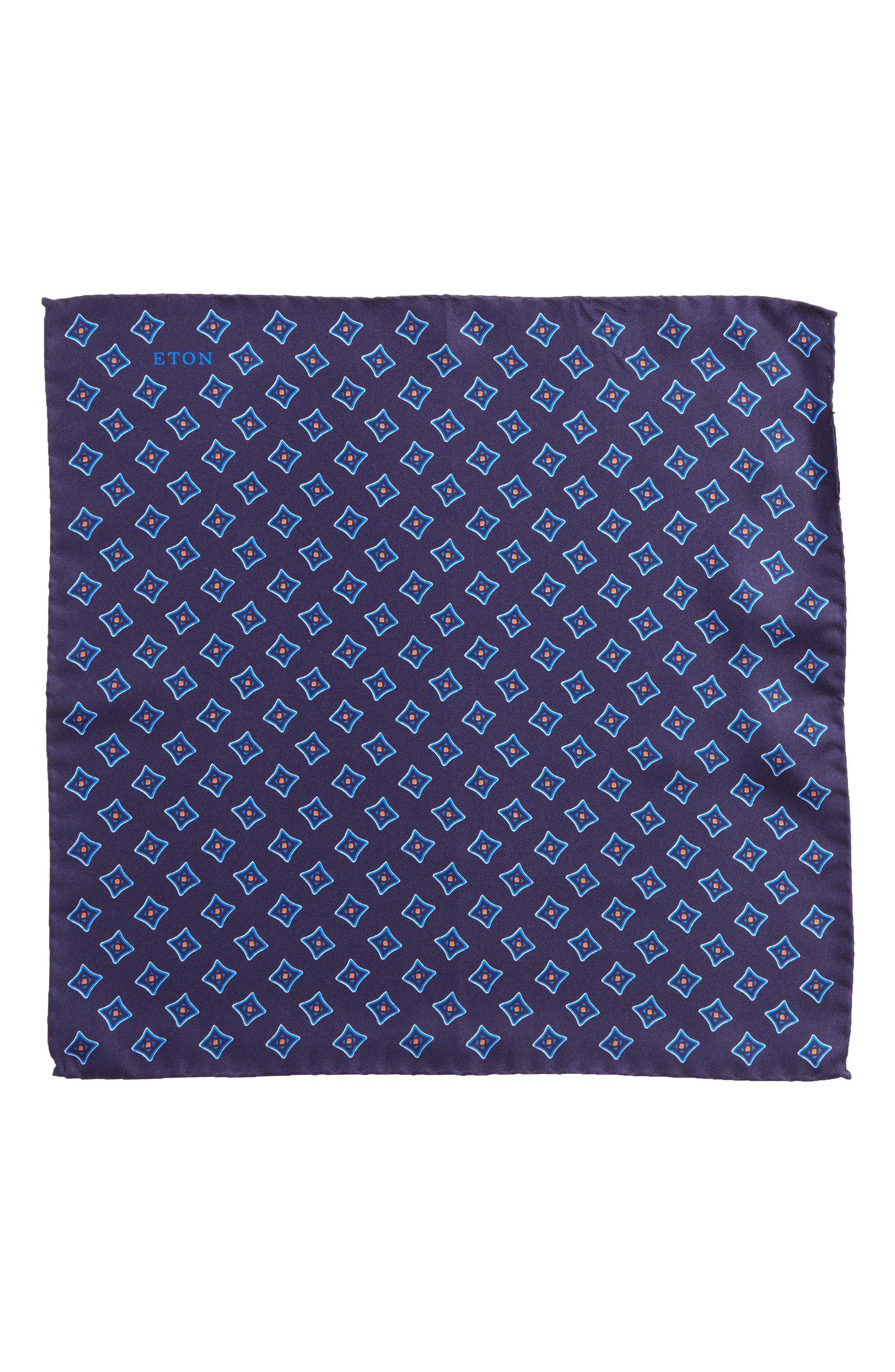 Medallion Silk Pocket Square,                             Alternate thumbnail 5, color,