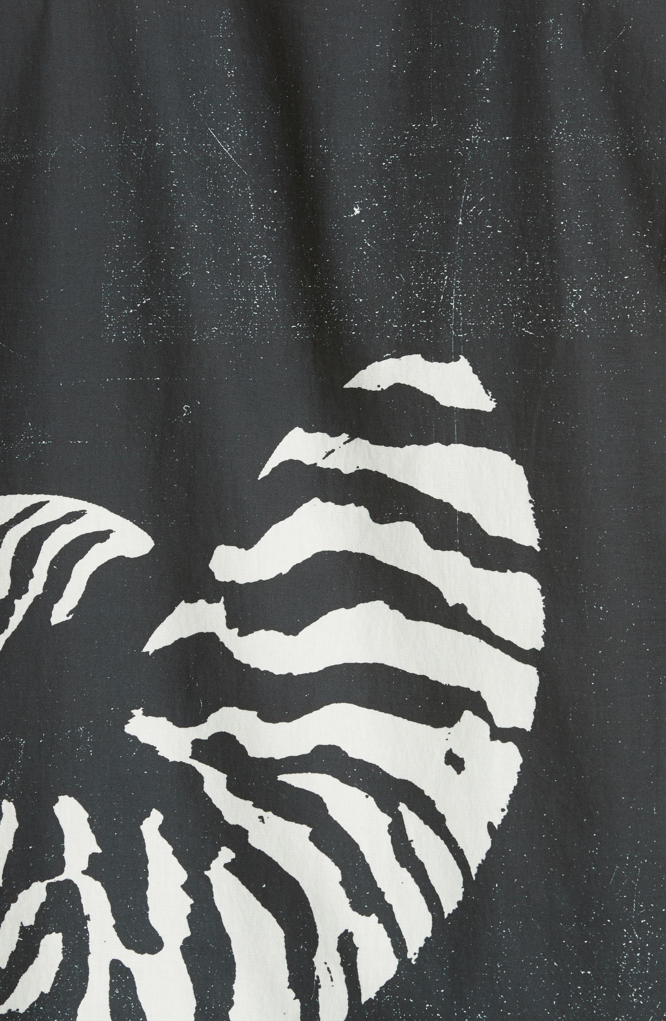 Beach House Print Camp Shirt,                             Alternate thumbnail 5, color,                             WHITE