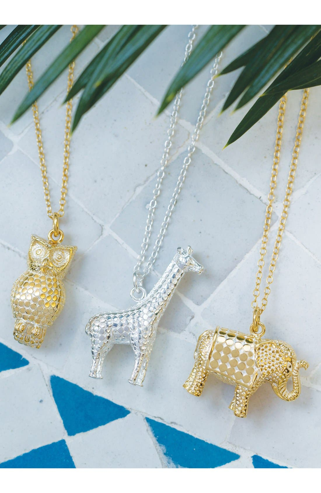 Jewelry That Makes a Difference Elephant Pendant Necklace,                             Alternate thumbnail 3, color,                             GOLD/ SILVER