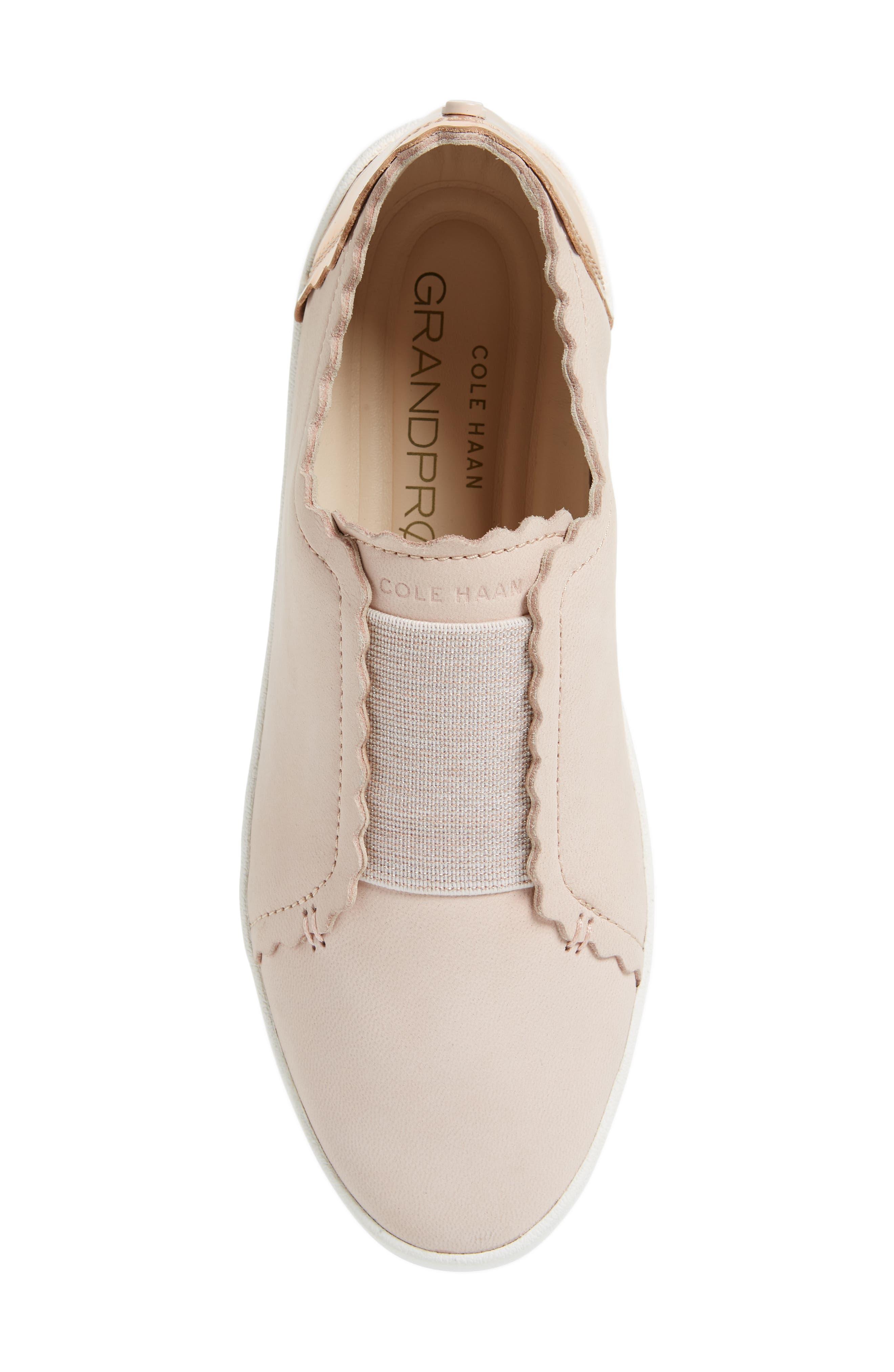 GrandPro Spectator Scalloped Slip-On Sneaker,                             Alternate thumbnail 5, color,                             651