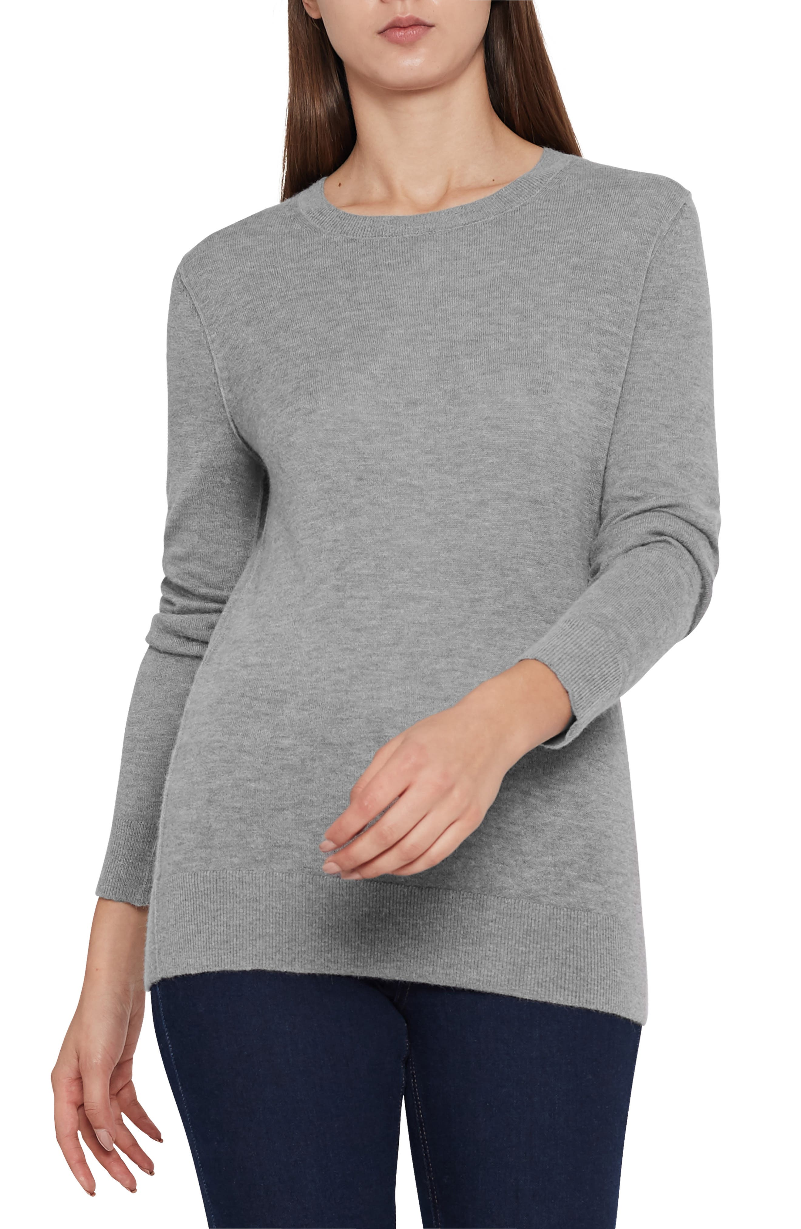 REISS Maya Crewneck Sweater in Grey Marl
