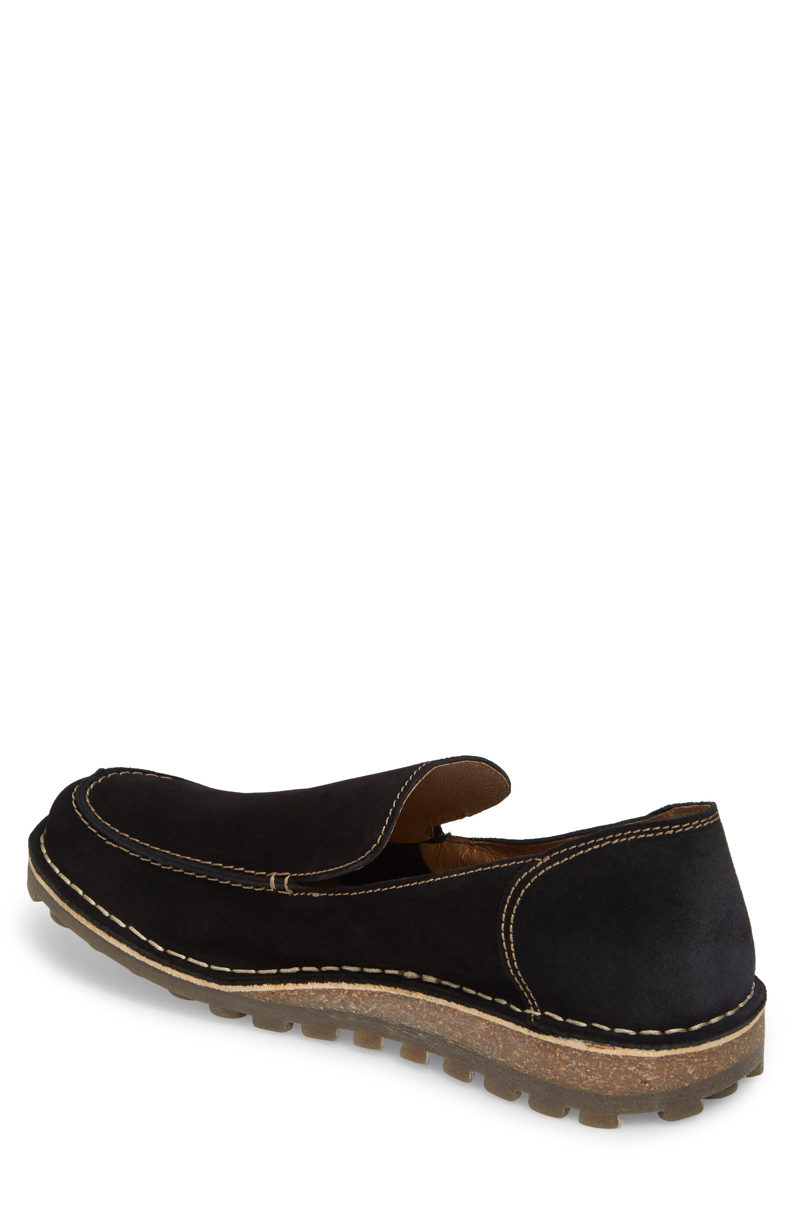 Meve Moc Toe Loafer,                             Alternate thumbnail 2, color,                             BLACK SUEDE