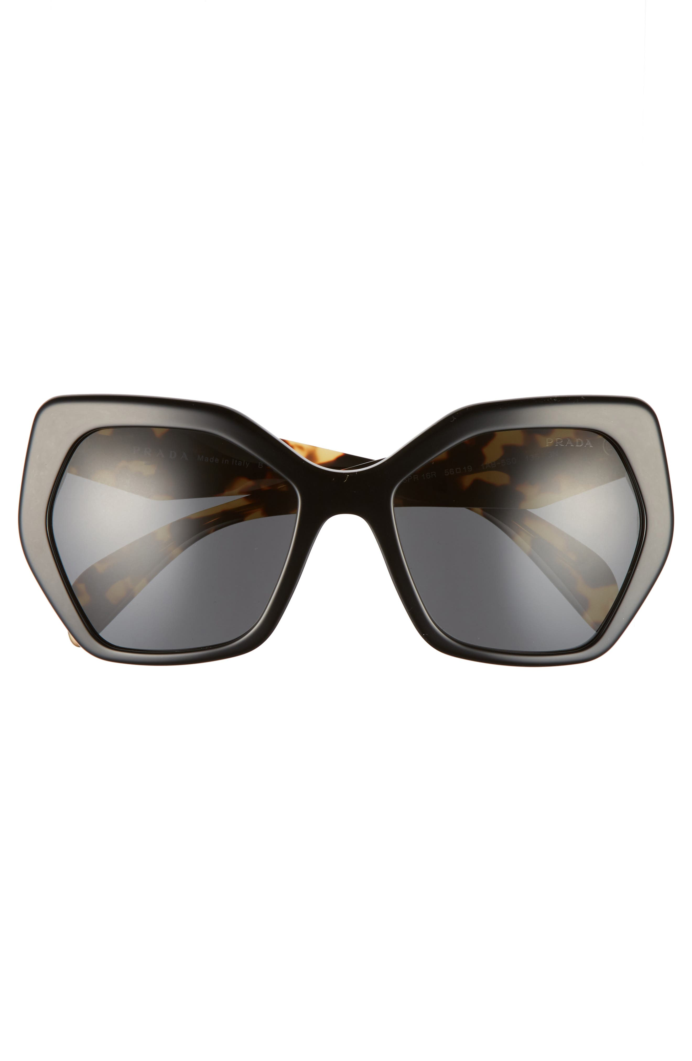 Heritage 56mm Sunglasses,                             Alternate thumbnail 3, color,                             002