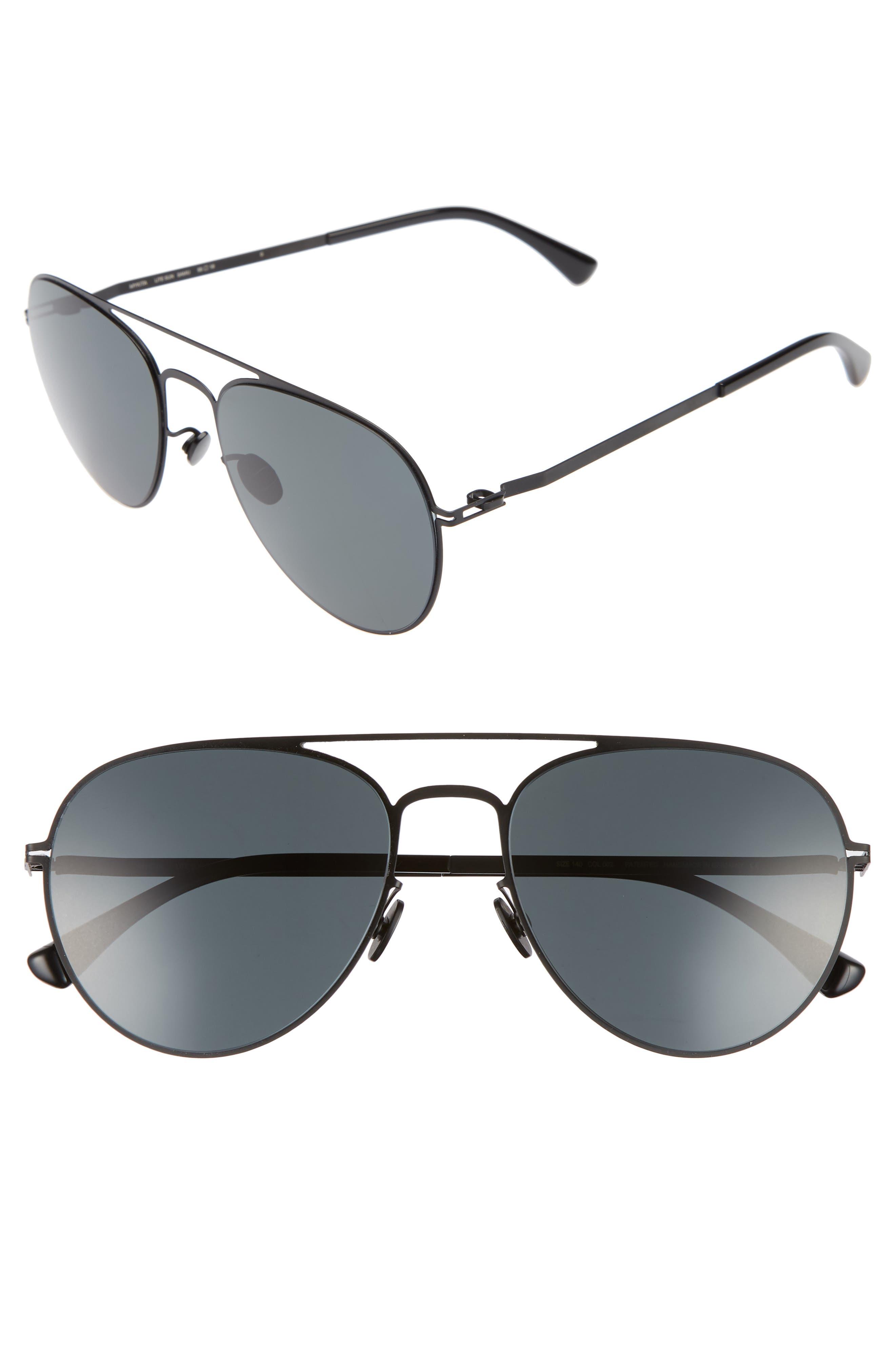 Samu 55mm Polarized Aviator Sunglasses,                             Main thumbnail 1, color,