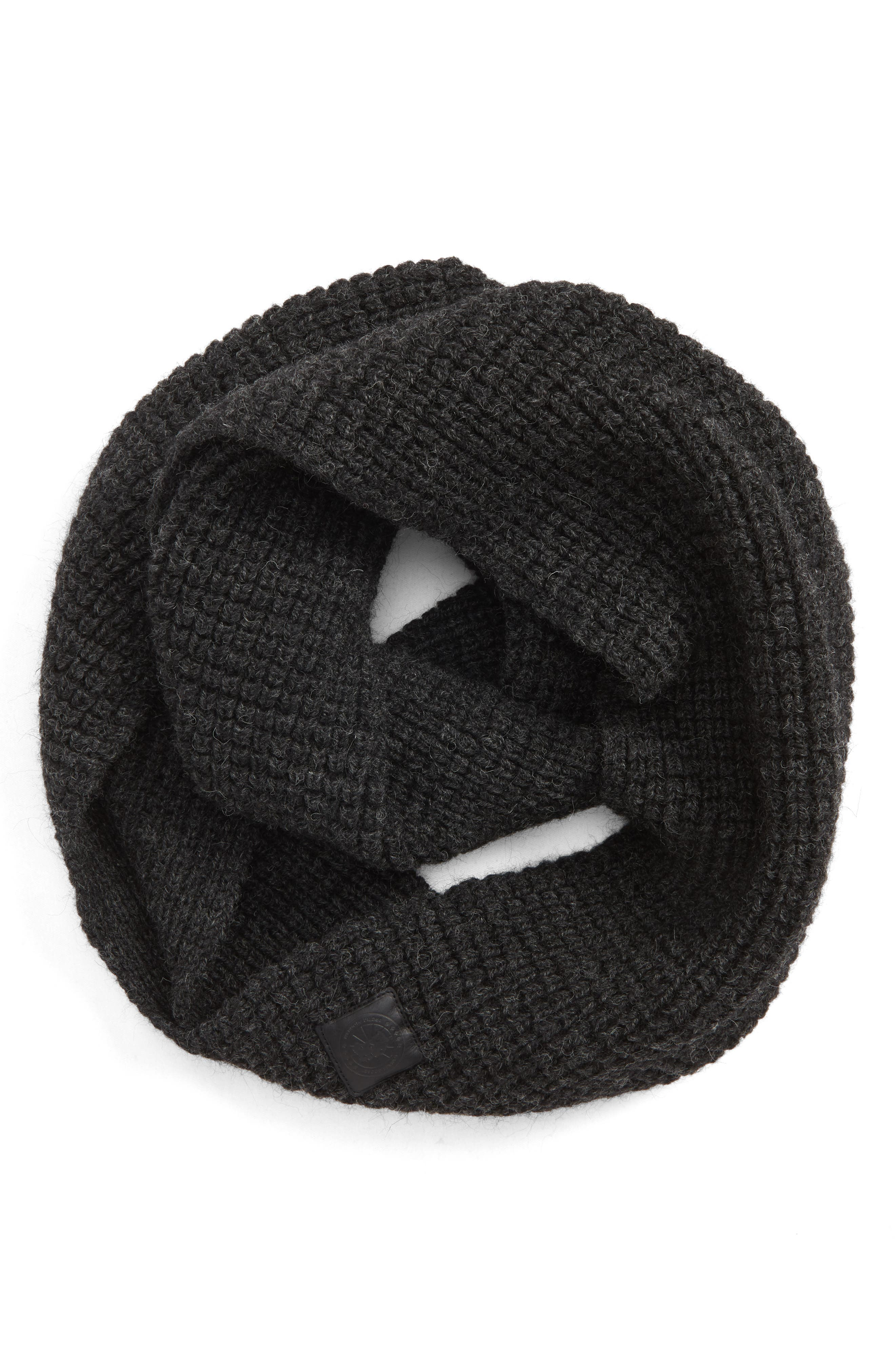 Infinity Wool Scarf, Main, color, IRON GREY