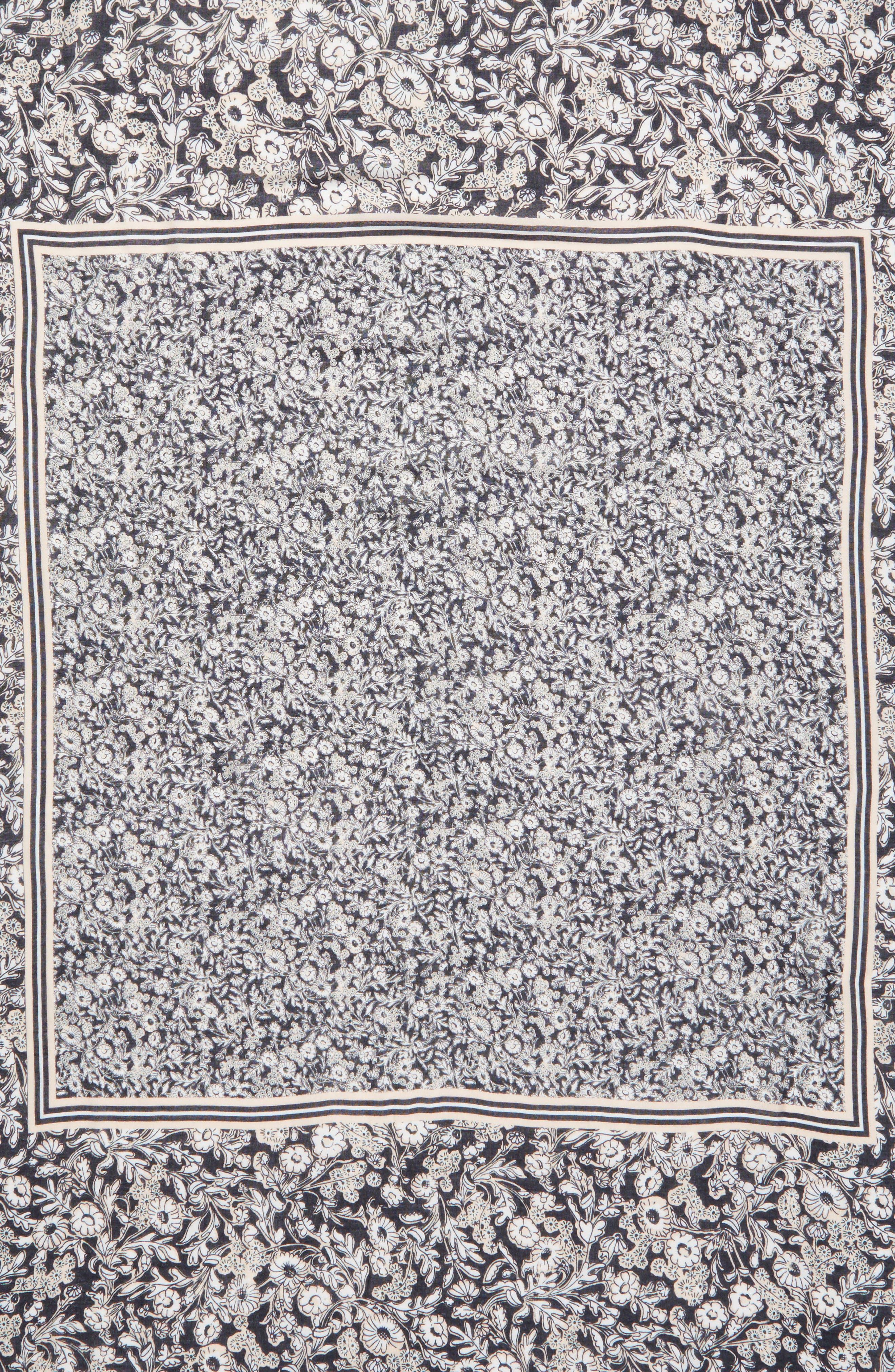 Wildflower Tassel Square Scarf,                             Alternate thumbnail 4, color,                             001