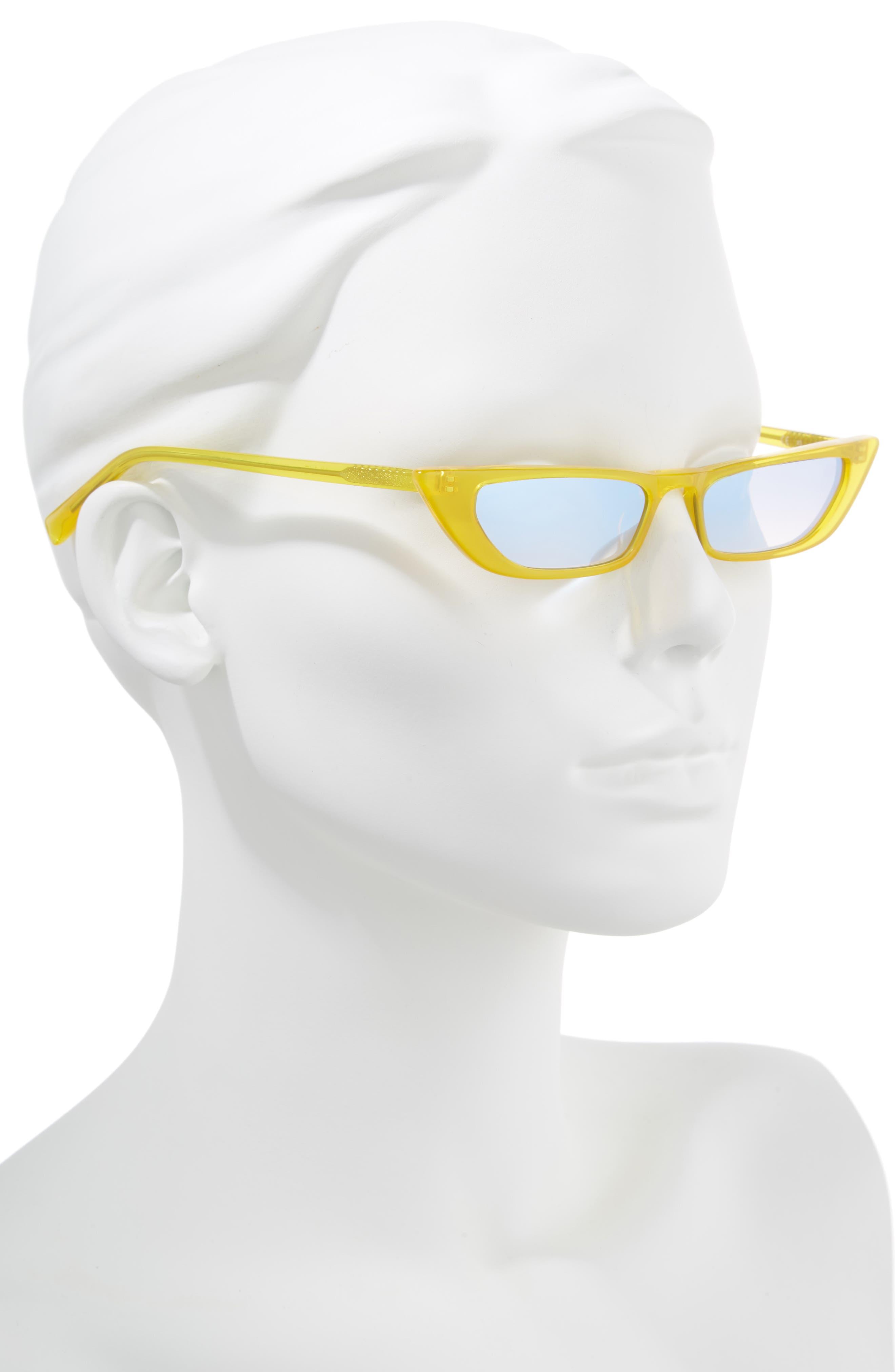 Vivian Extreme 51mm Cat Eye Sunglasses,                             Alternate thumbnail 2, color,                             SUN CITY YELLOW/ SOLID SMOKE
