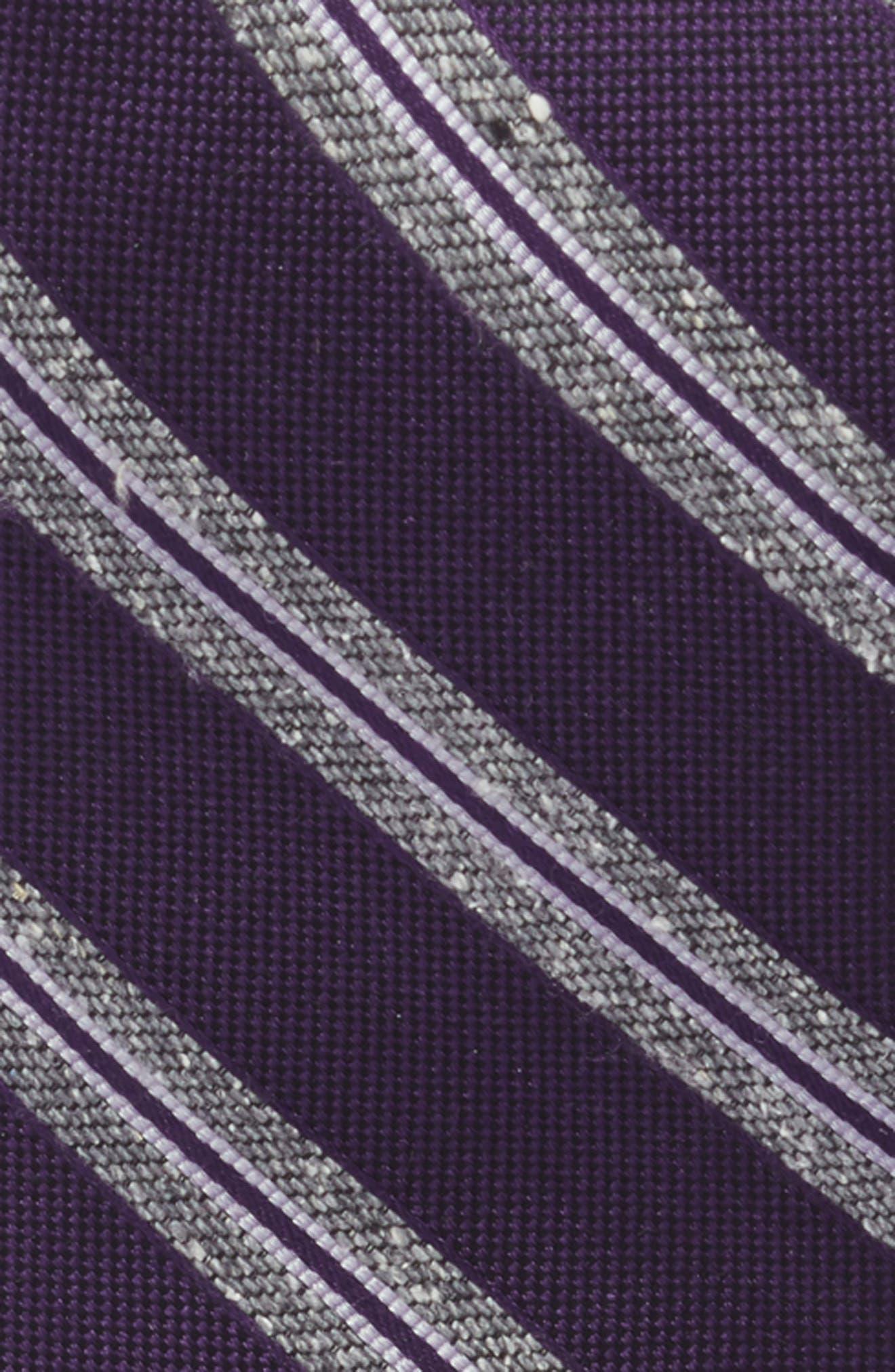 THE TIE BAR,                             Edison Stripe 3-Piece Skinny Tie Style Box,                             Alternate thumbnail 3, color,                             EGGPLANT