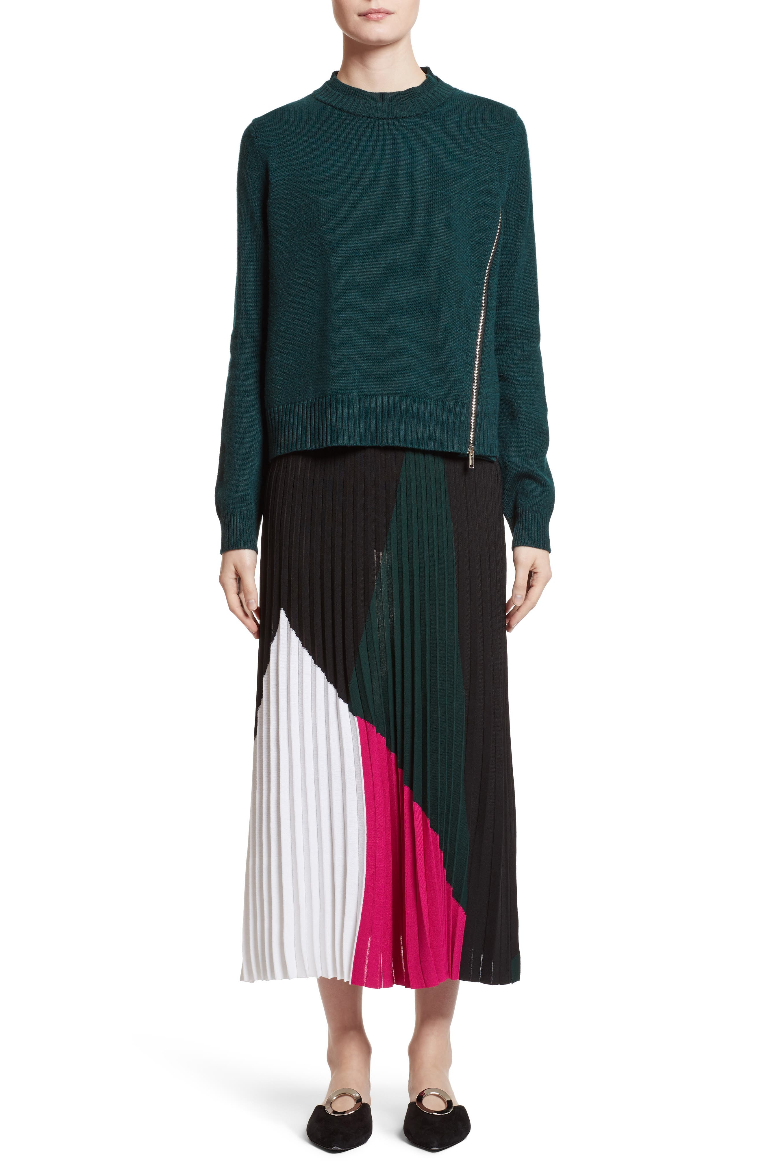 Wool, Silk & Cashmere Pullover,                             Alternate thumbnail 6, color,