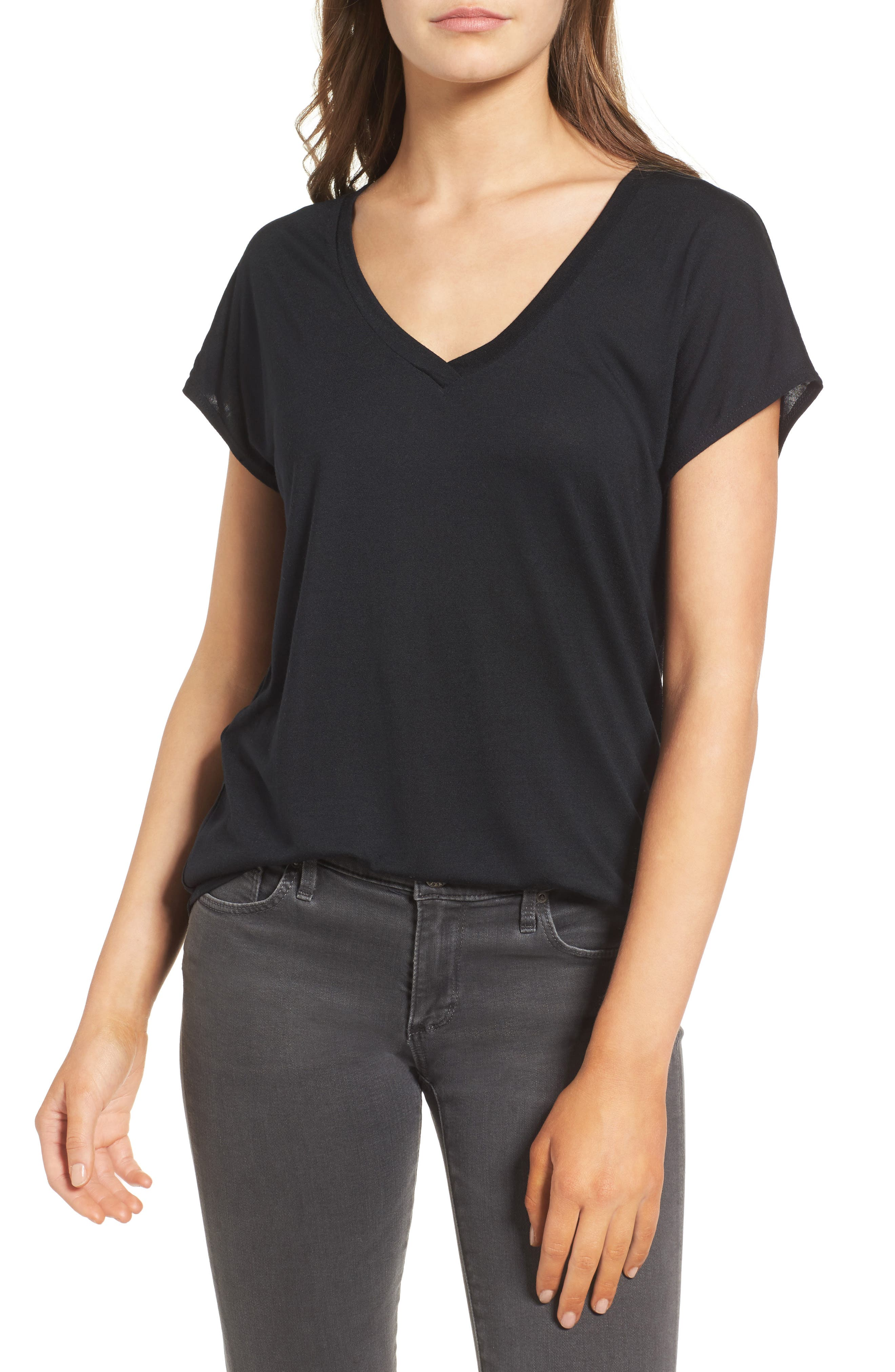 High/Low Dolman Tee,                         Main,                         color, 001