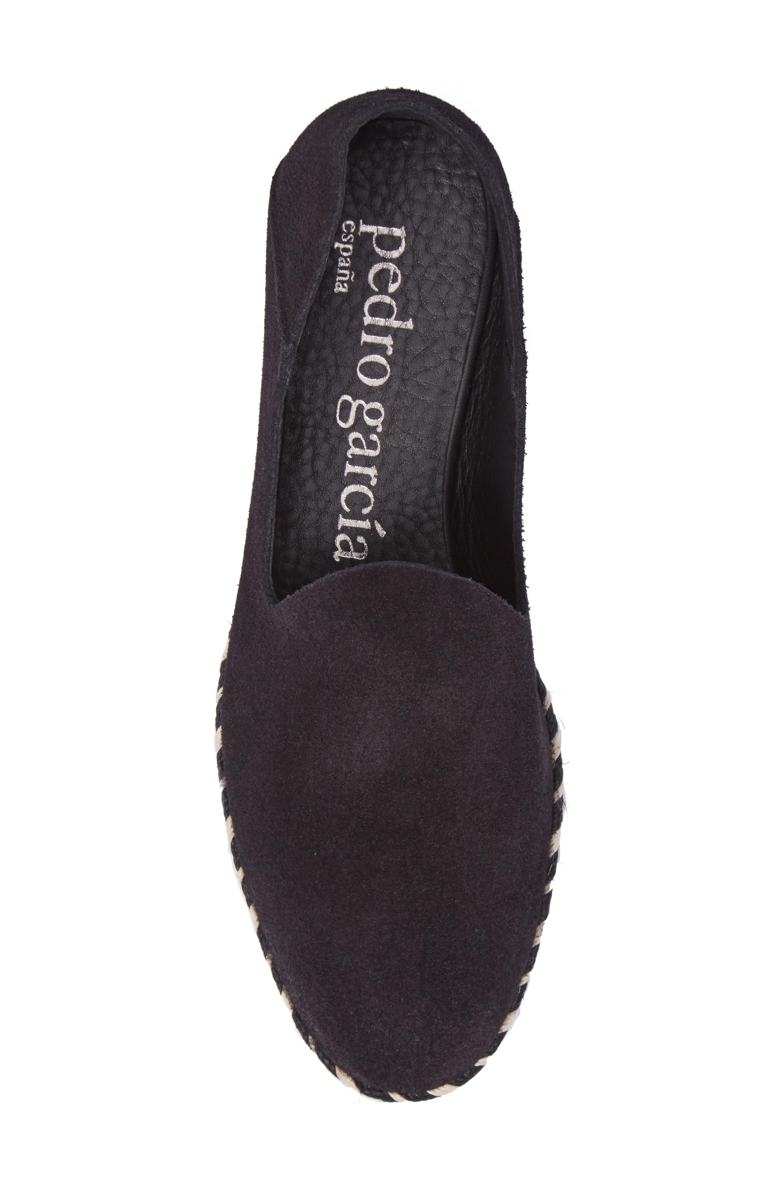 Yuli Convertible Woven Loafer,                             Alternate thumbnail 6, color,                             BLACK