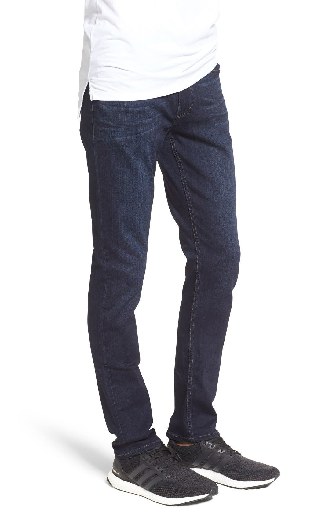 Transcend – Lennox Slim Fit Jeans,                             Alternate thumbnail 5, color,                             RUSS BLUE