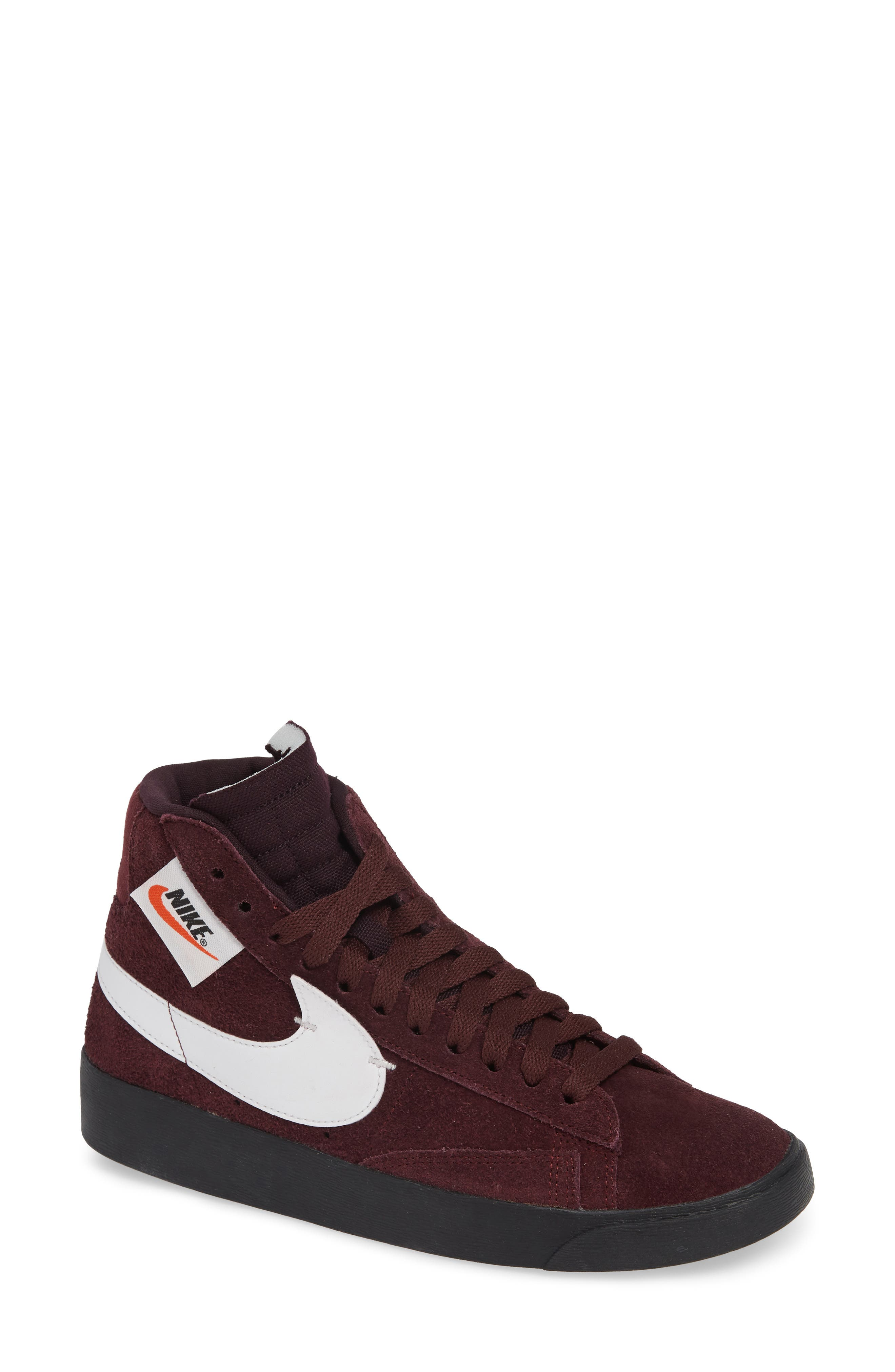 Blazer Mid Rebel Sneaker,                             Main thumbnail 1, color,                             BURGUNDY CRUSH/ ASH- WHITE
