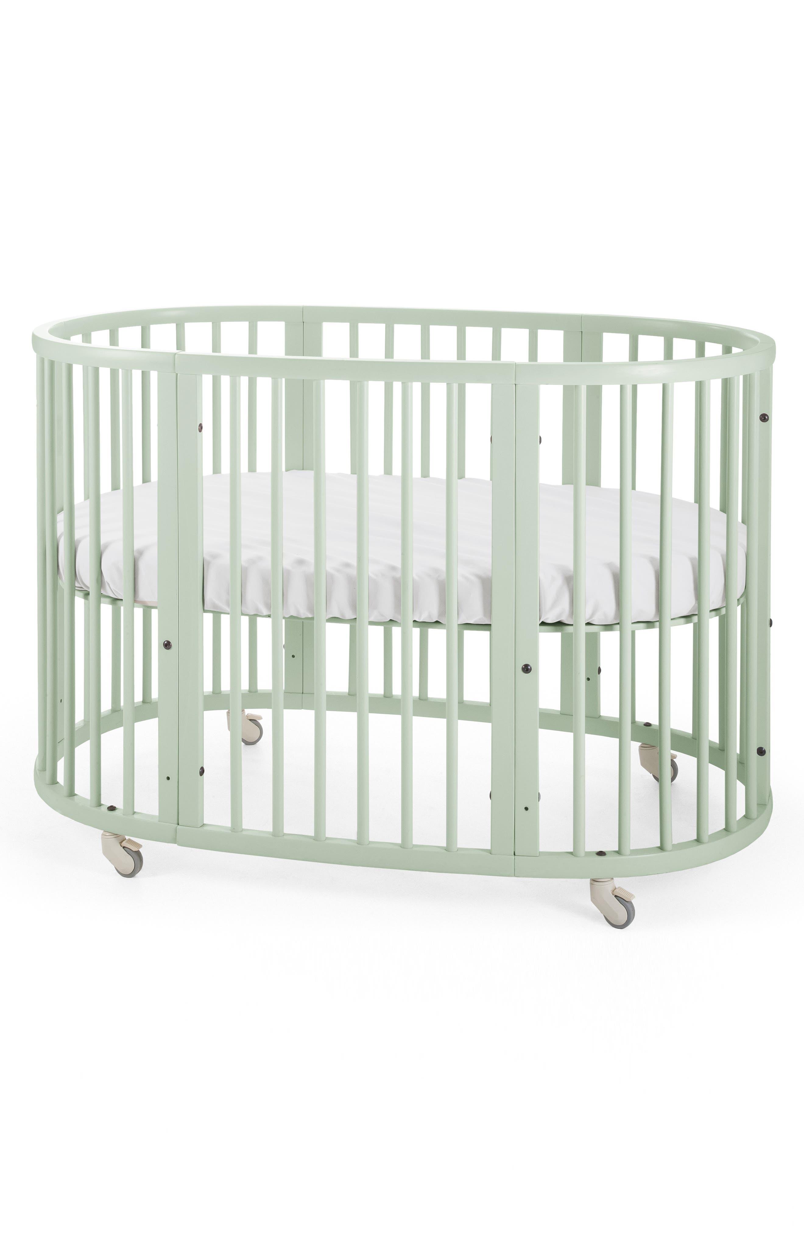 Convertible Sleepi Crib & Toddler Bed,                         Main,                         color, MINT GREEN