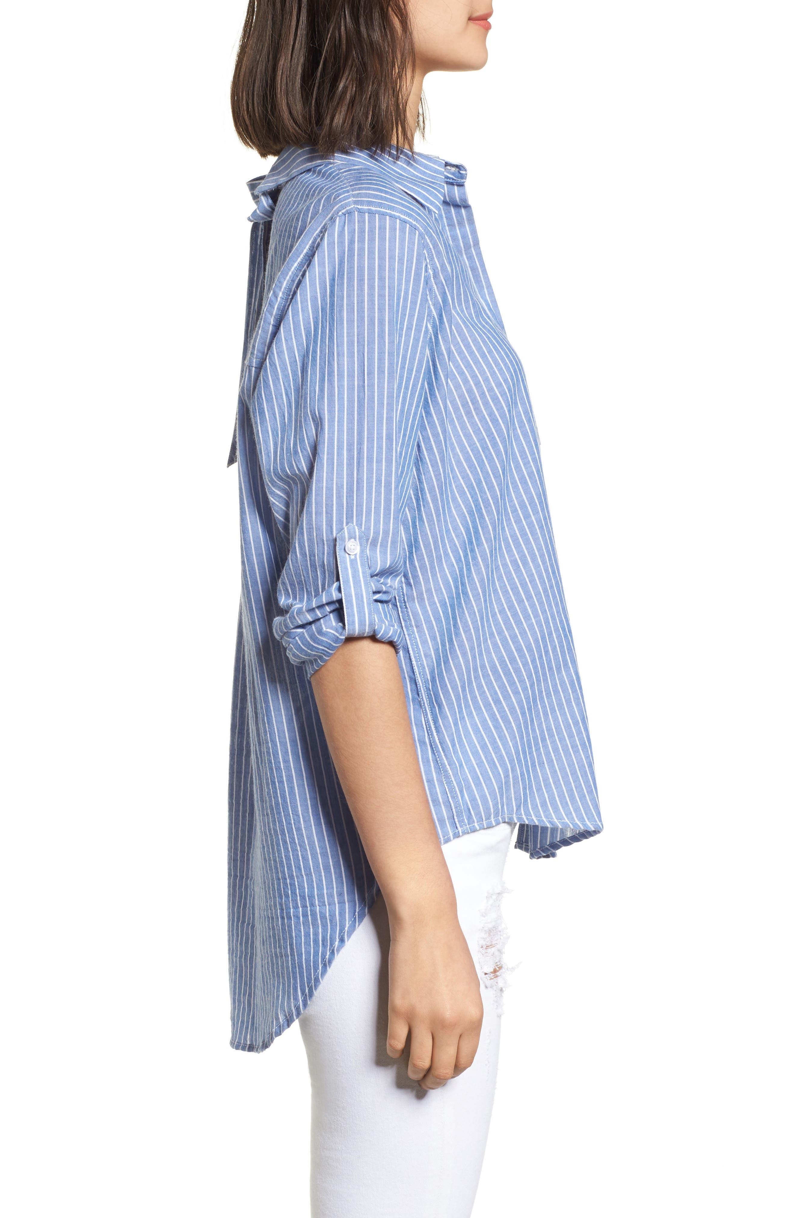 Mimi Stripe Shirt,                             Alternate thumbnail 3, color,                             494