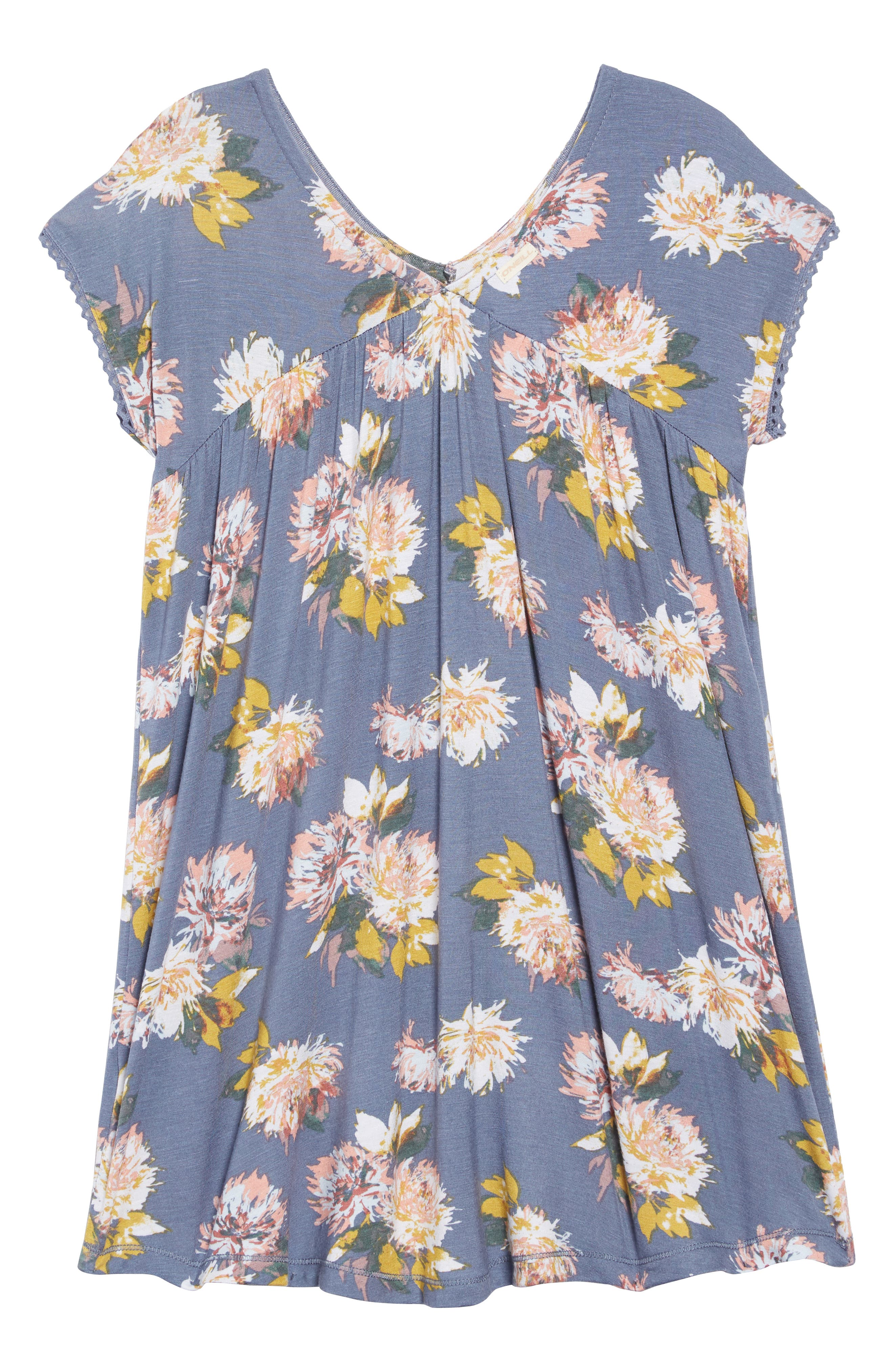 Lena Floral Dress,                             Alternate thumbnail 2, color,                             SLATE