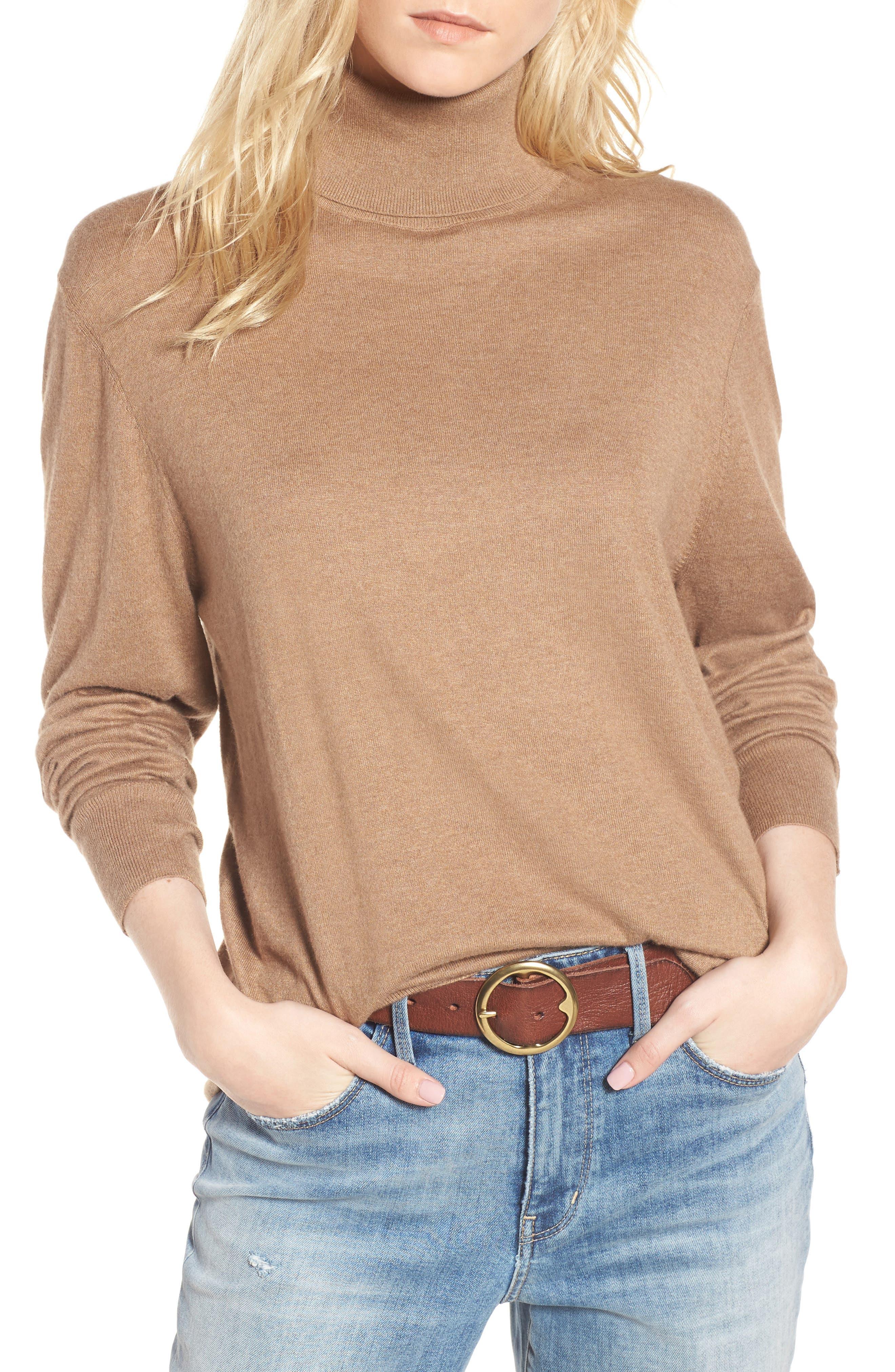 Boyfriend Turtleneck Sweater,                             Main thumbnail 3, color,