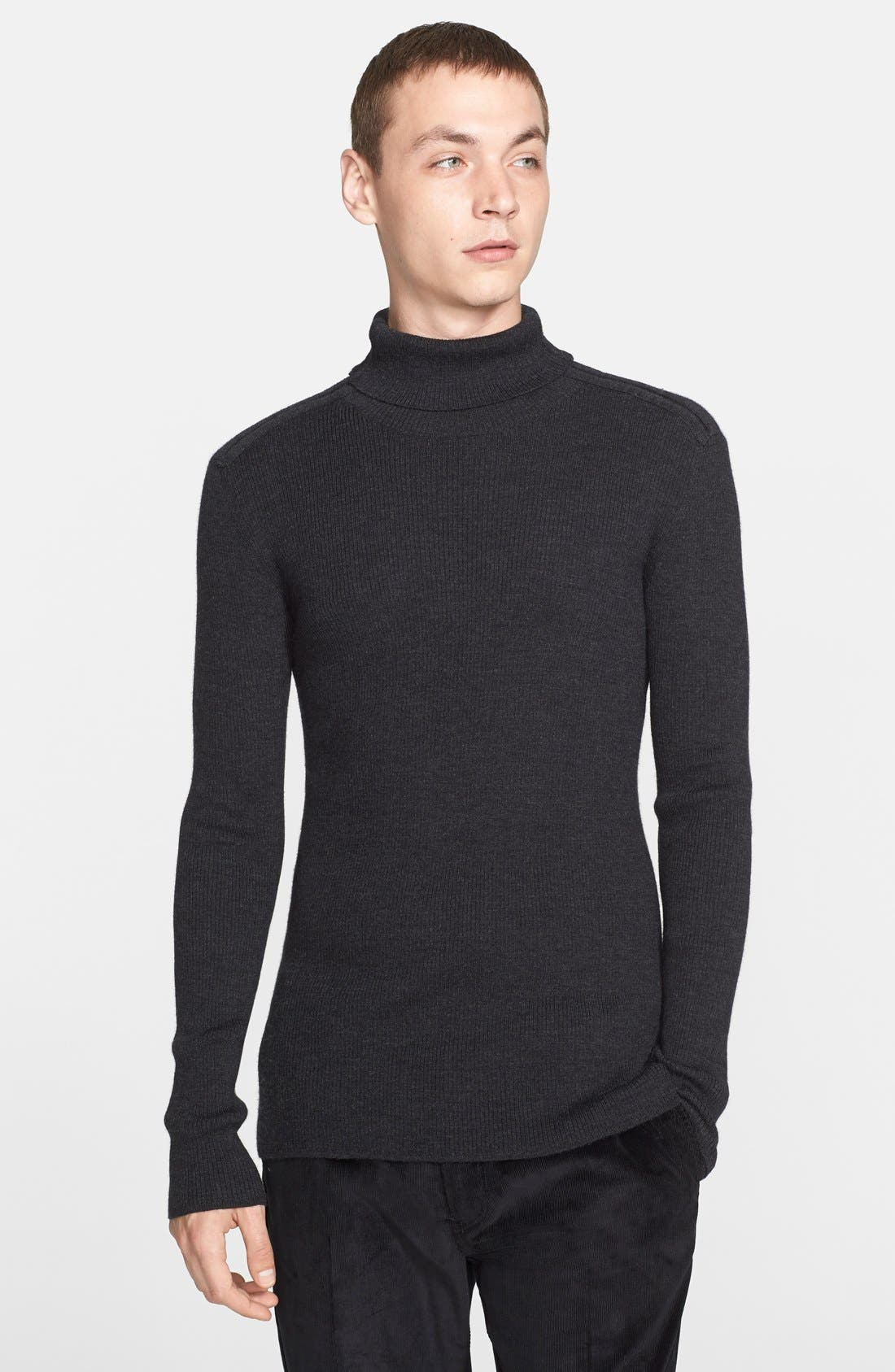 Collection Merino Wool & Silk Turtleneck,                             Main thumbnail 1, color,                             024