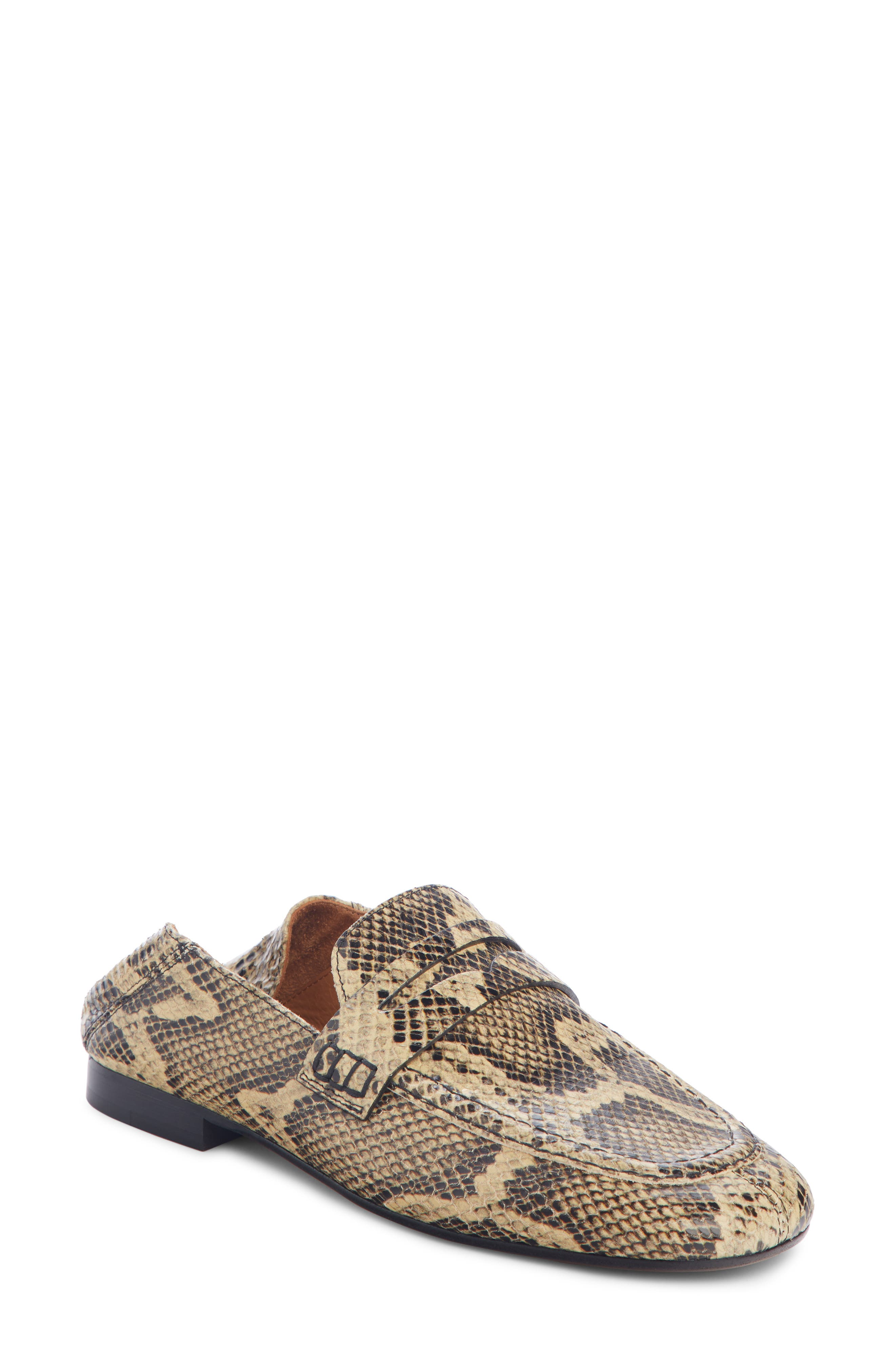 Fezzy Snakeskin Embossed Convertible Loafer,                         Main,                         color, NATURAL EXOTIC
