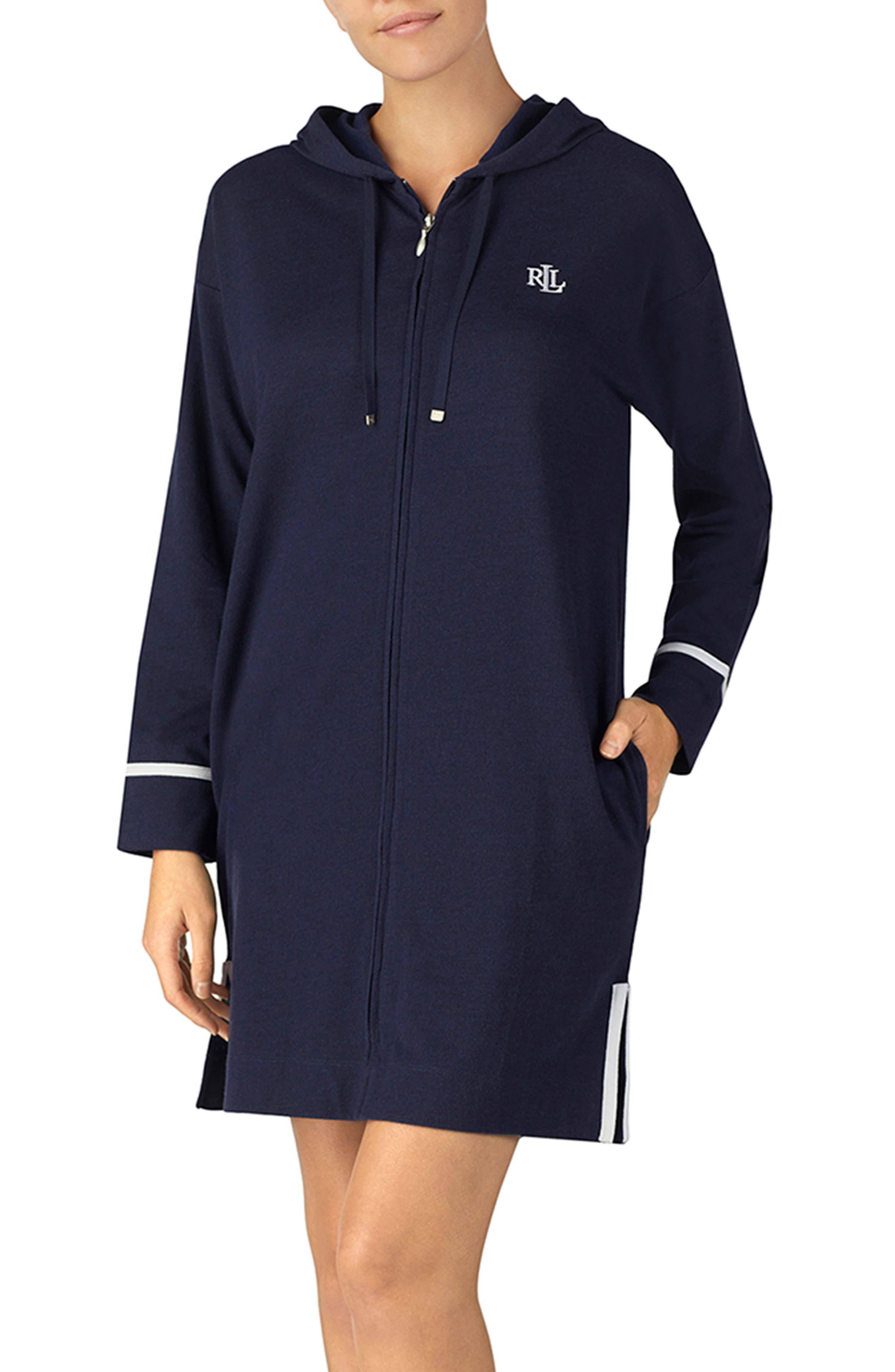 Lauren Ralph Lauren Hooded Nightgown, Blue