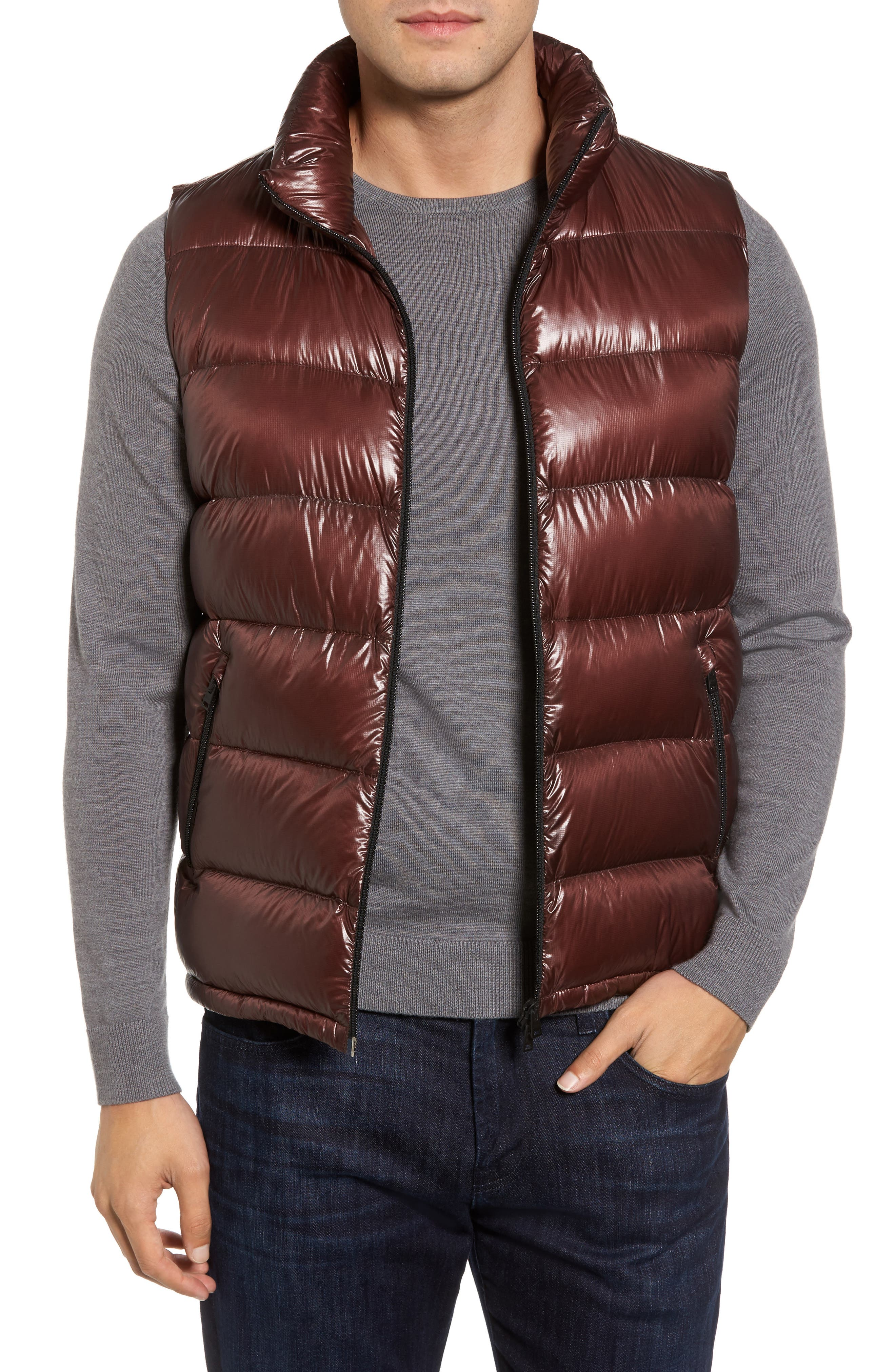 Quilted Down Vest,                         Main,                         color, 201