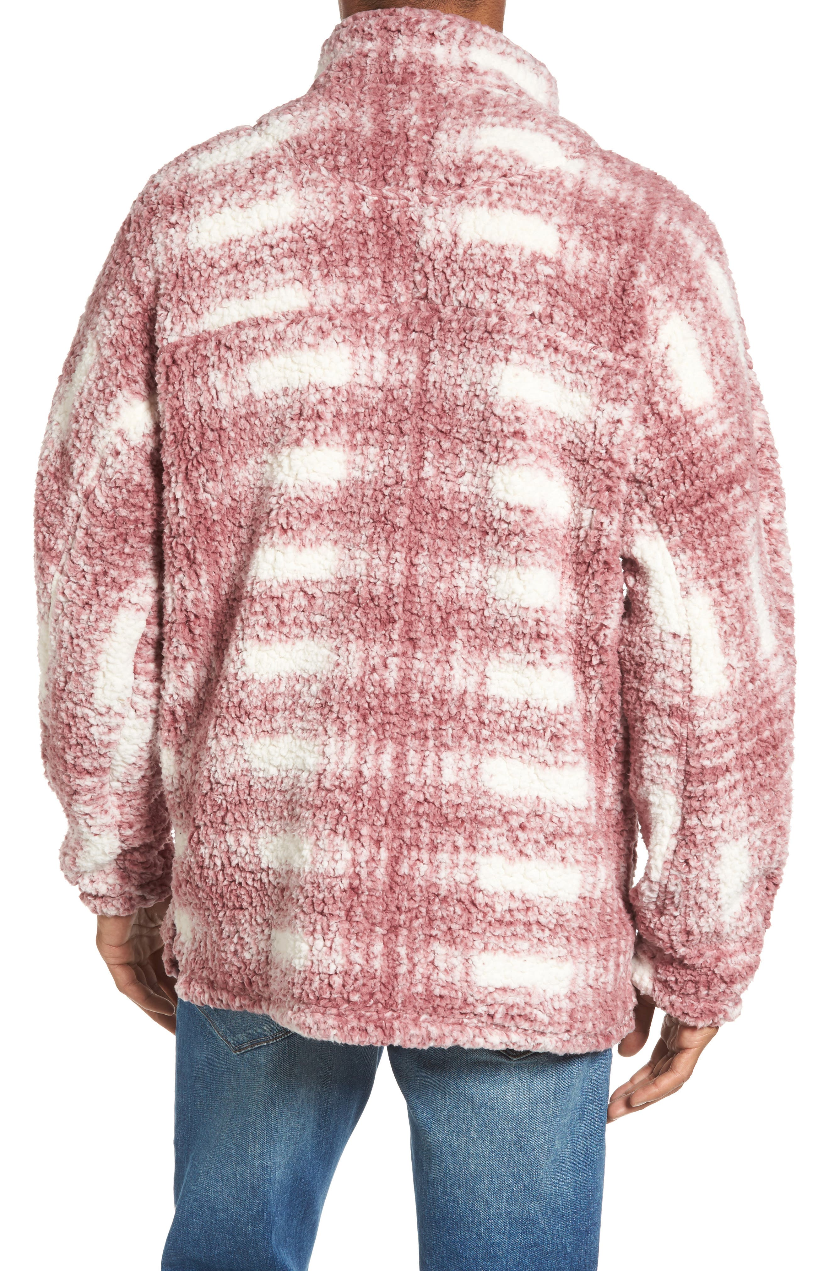 Big Plaid Frosty Tipped Faux Fur Pullover,                             Alternate thumbnail 4, color,