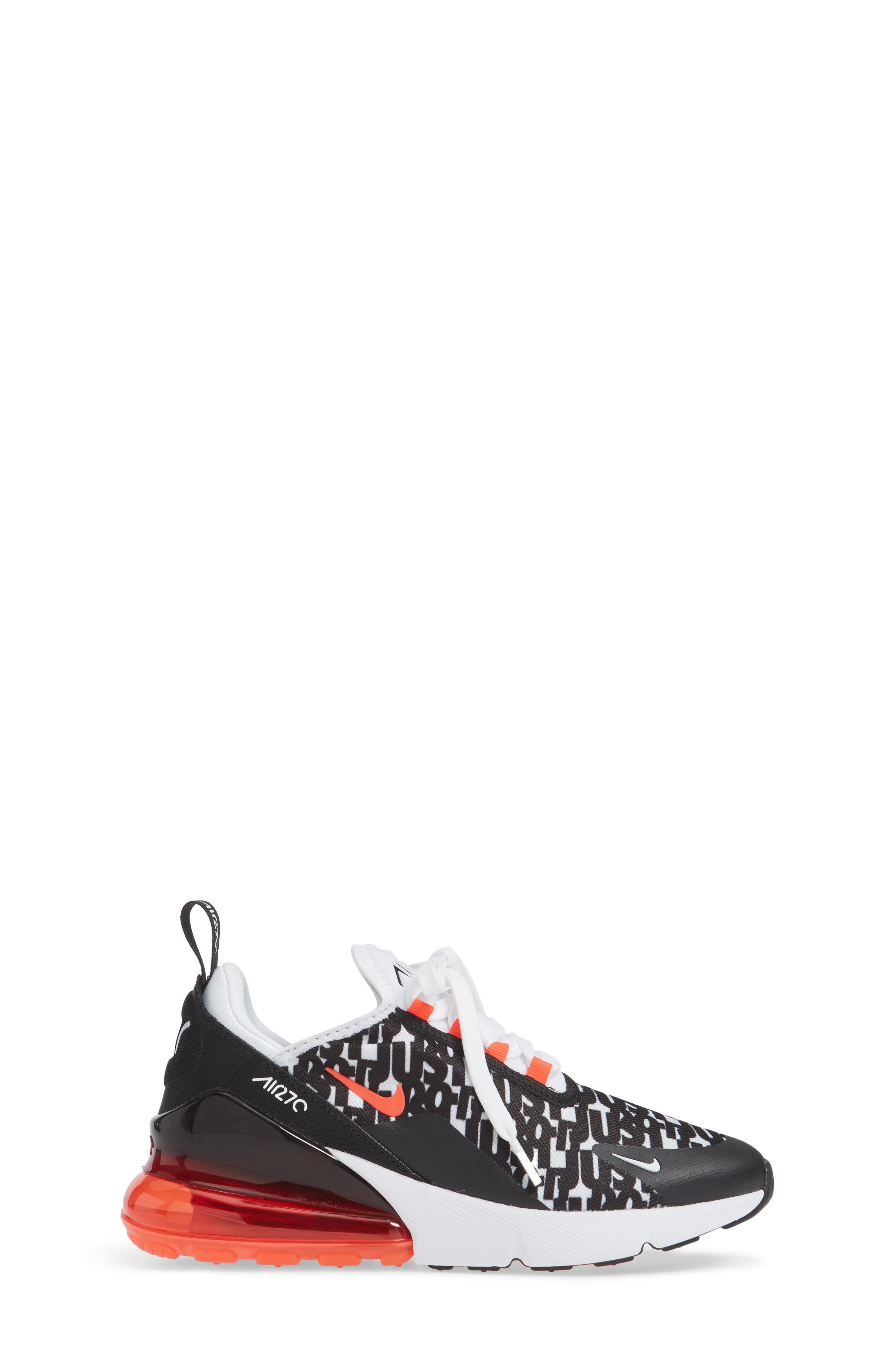 Air Max 270 Print Sneaker,                             Alternate thumbnail 3, color,                             BLACK/ WHITE/ BRIGHT CRIMSON