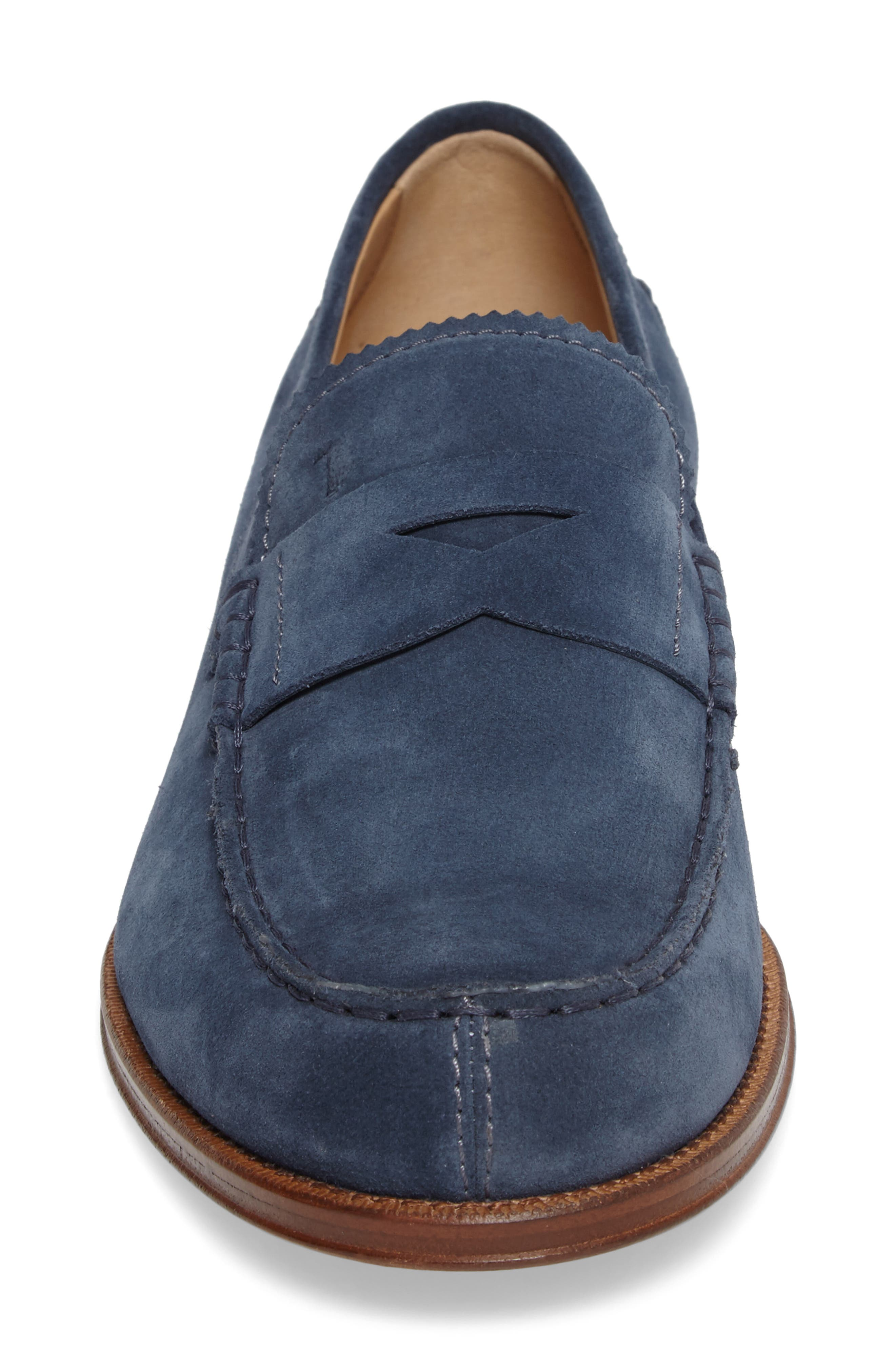 Suede Penny Loafer,                             Alternate thumbnail 8, color,