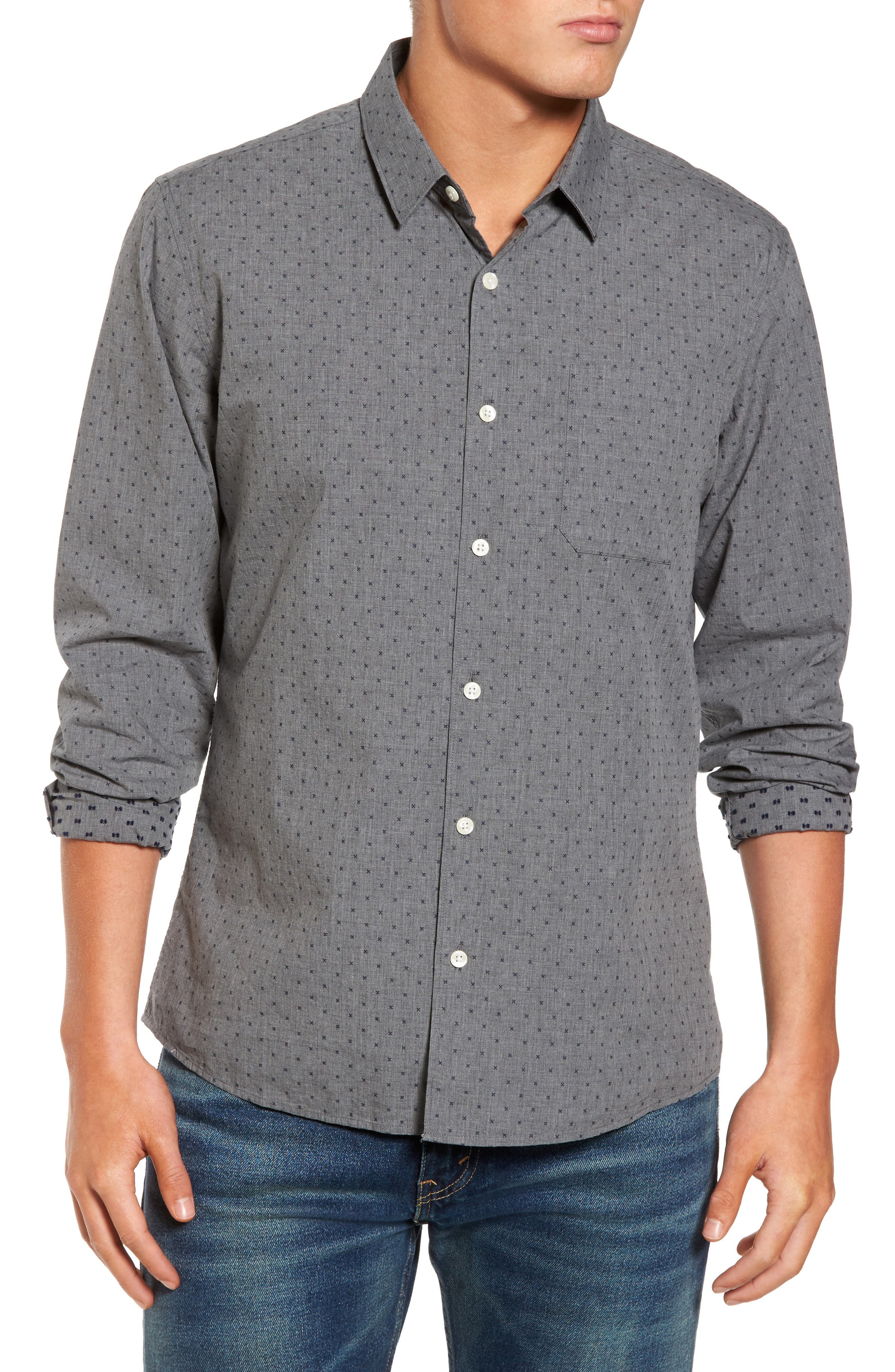 Steel Sky Woven Shirt,                         Main,                         color, 410
