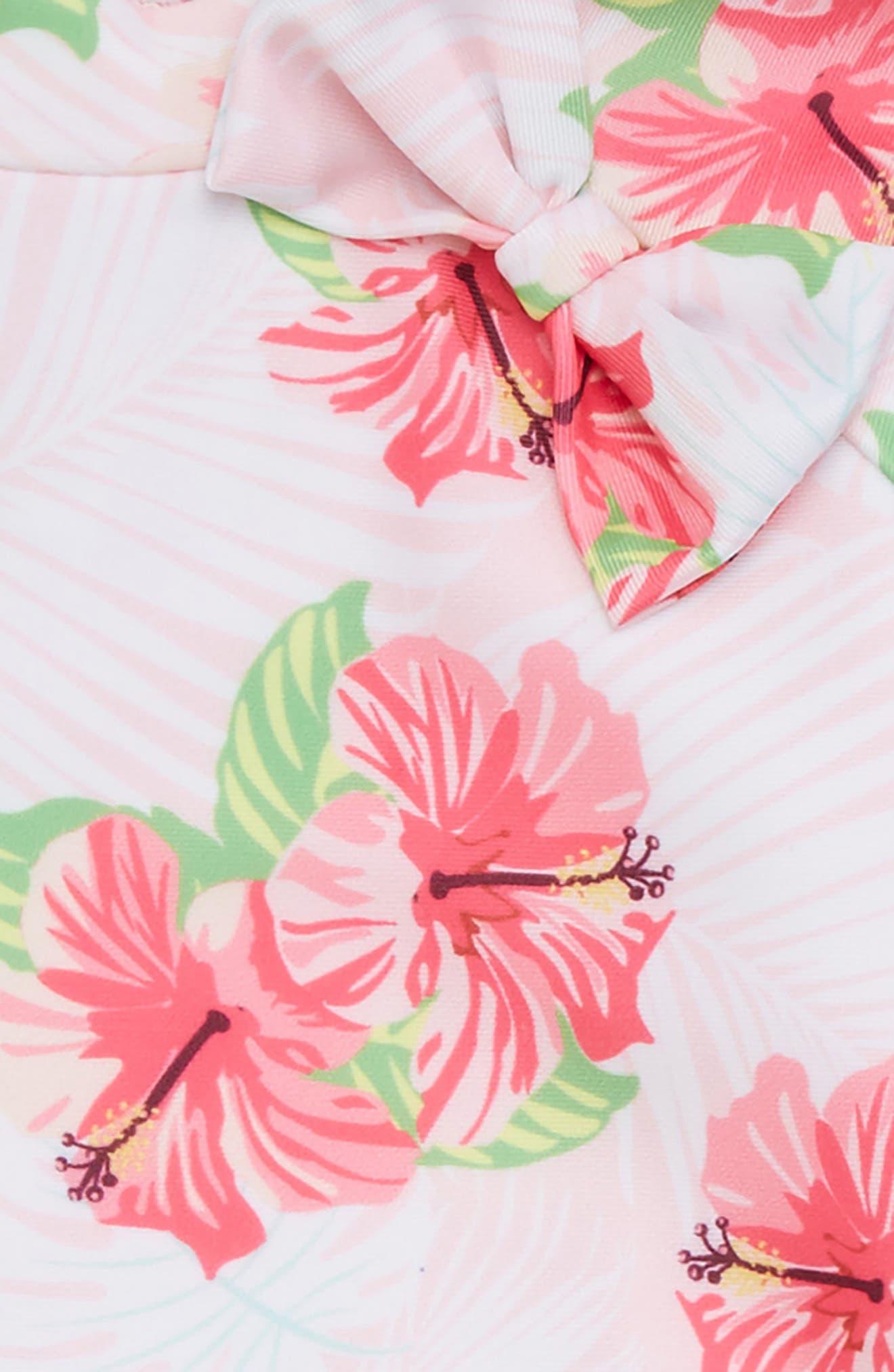 Hibiscus Splash Two-Piece Rashguard Swimsuit,                             Alternate thumbnail 2, color,                             699