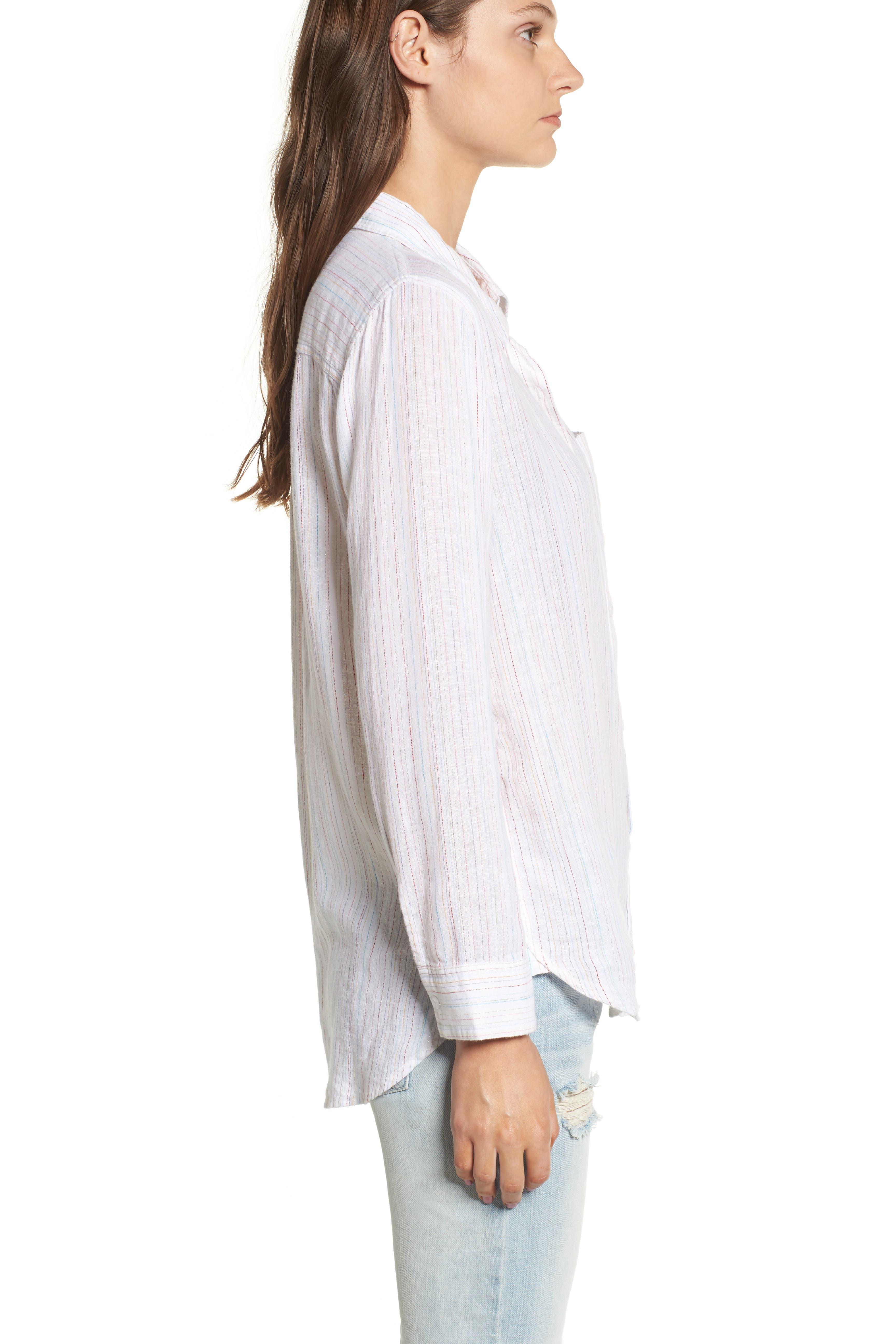 Taylor Heart Stripe Shirt,                             Alternate thumbnail 4, color,                             400