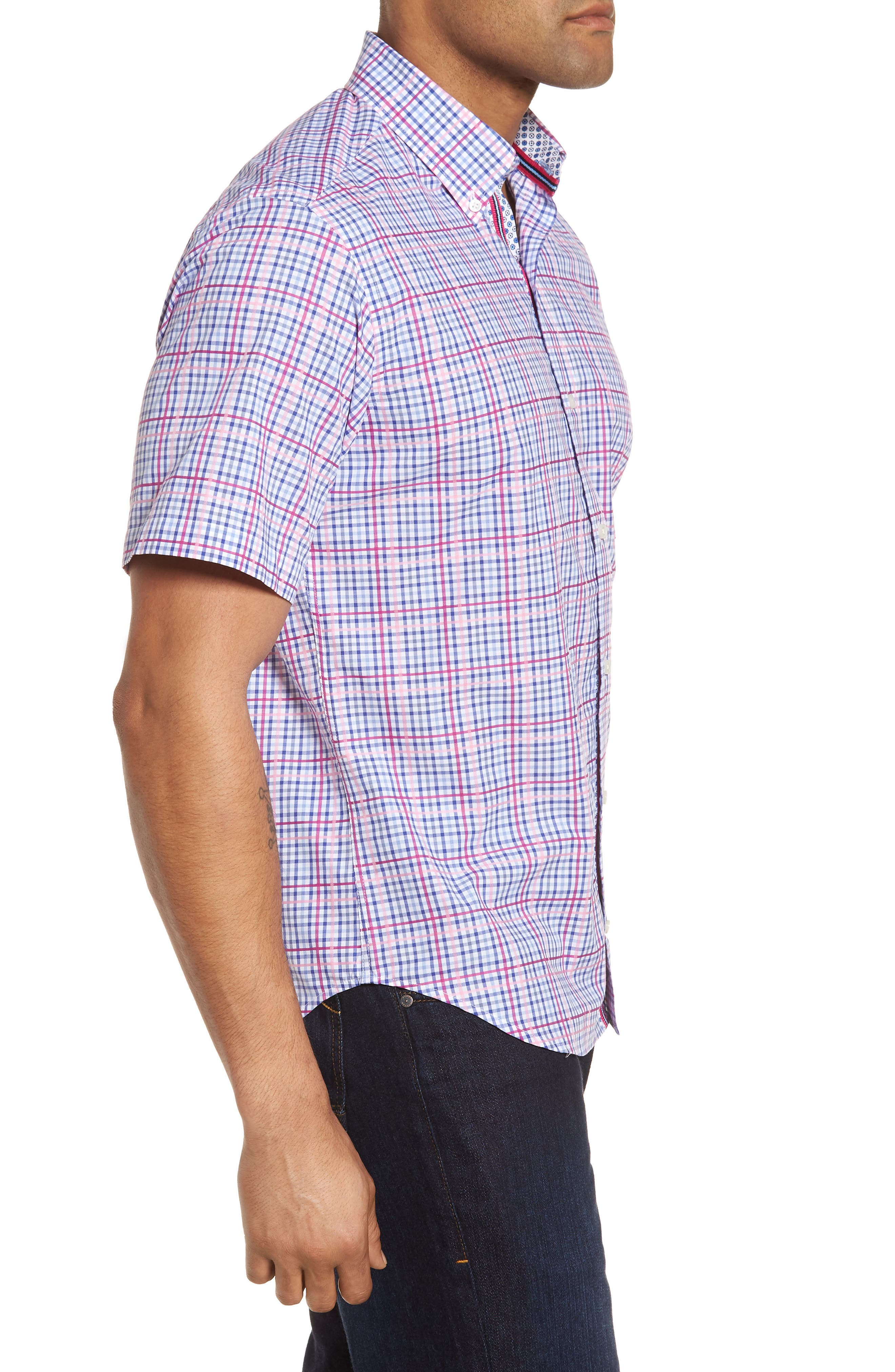 Ale Regular Fit Check Sport Shirt,                             Alternate thumbnail 3, color,                             650