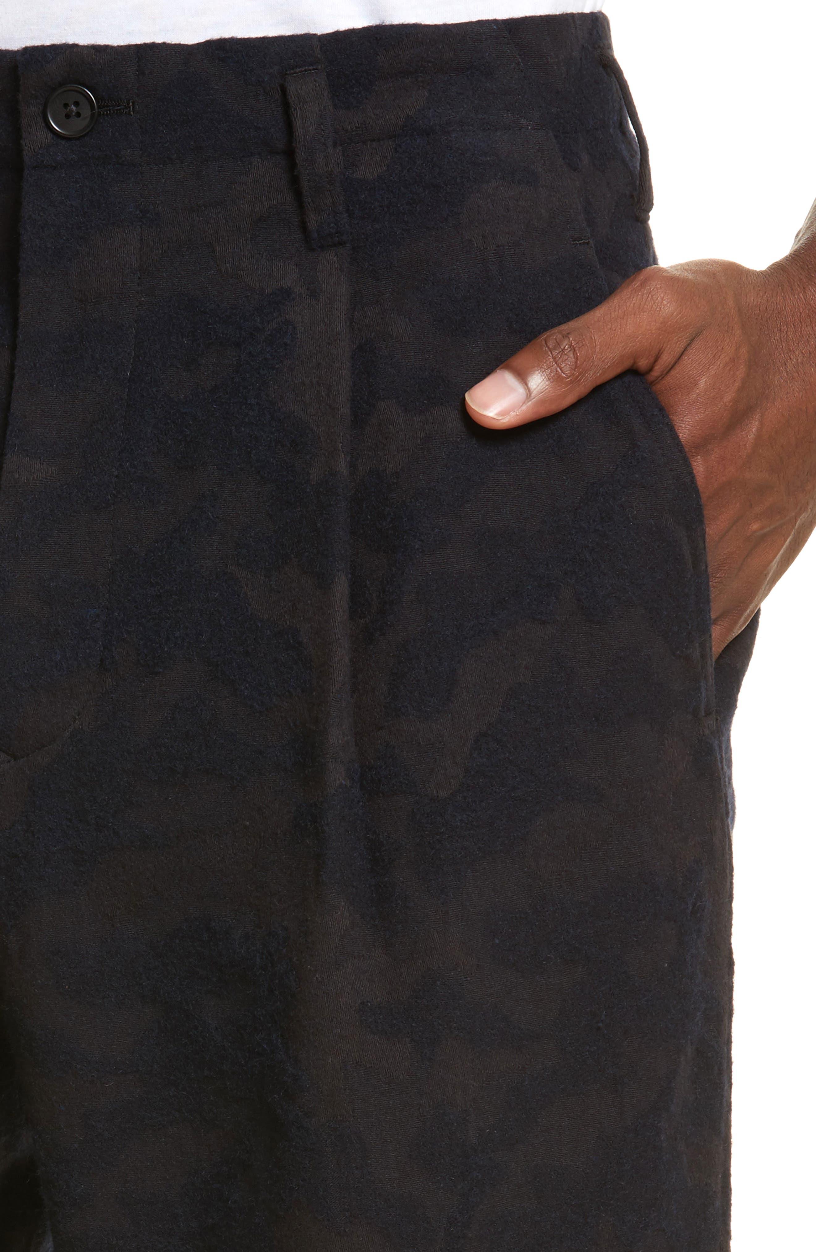 Camo Crop Pants,                             Alternate thumbnail 4, color,                             410