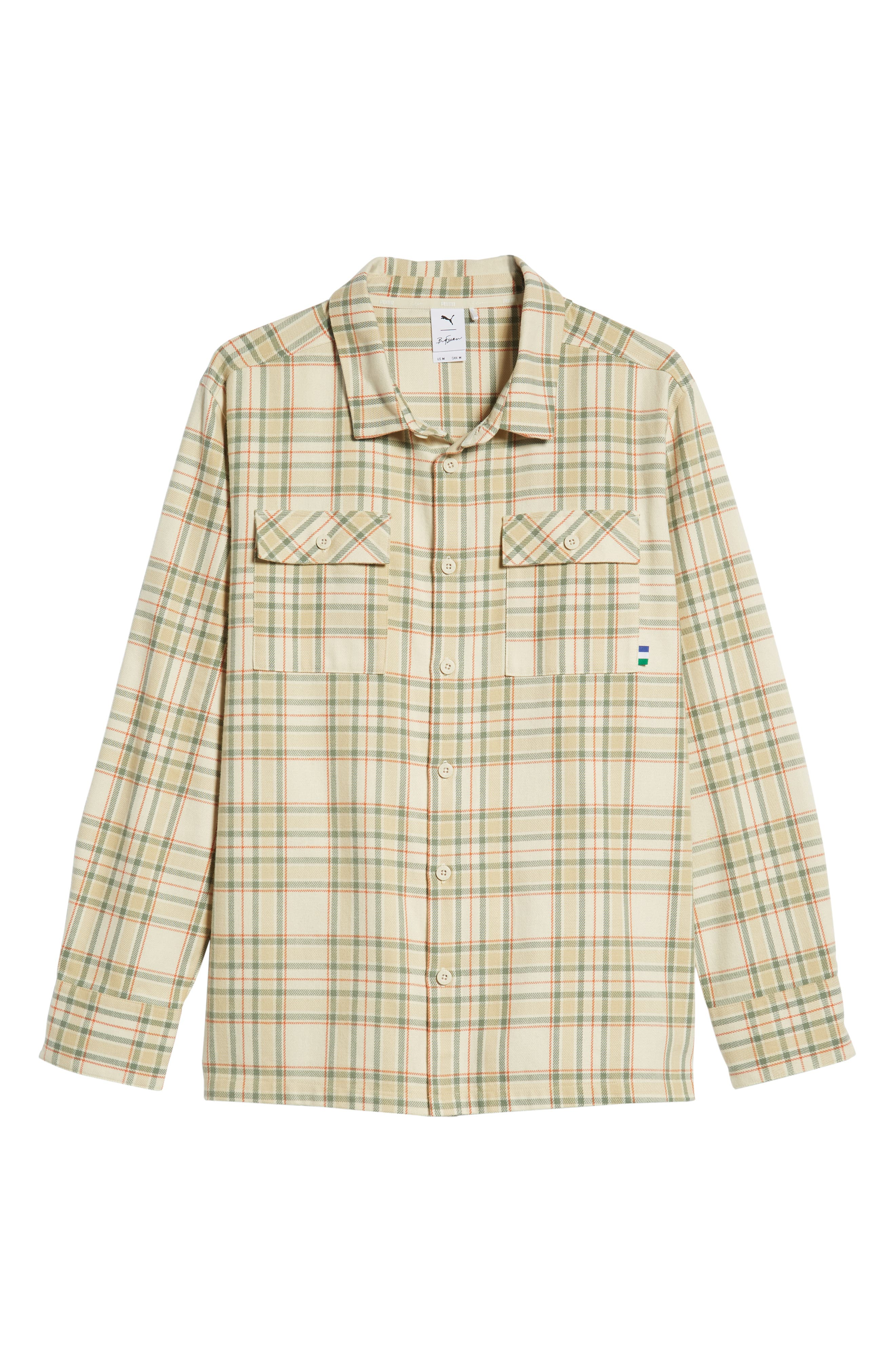 PUMA,                             x Big Sean Check Shirt,                             Alternate thumbnail 6, color,                             100