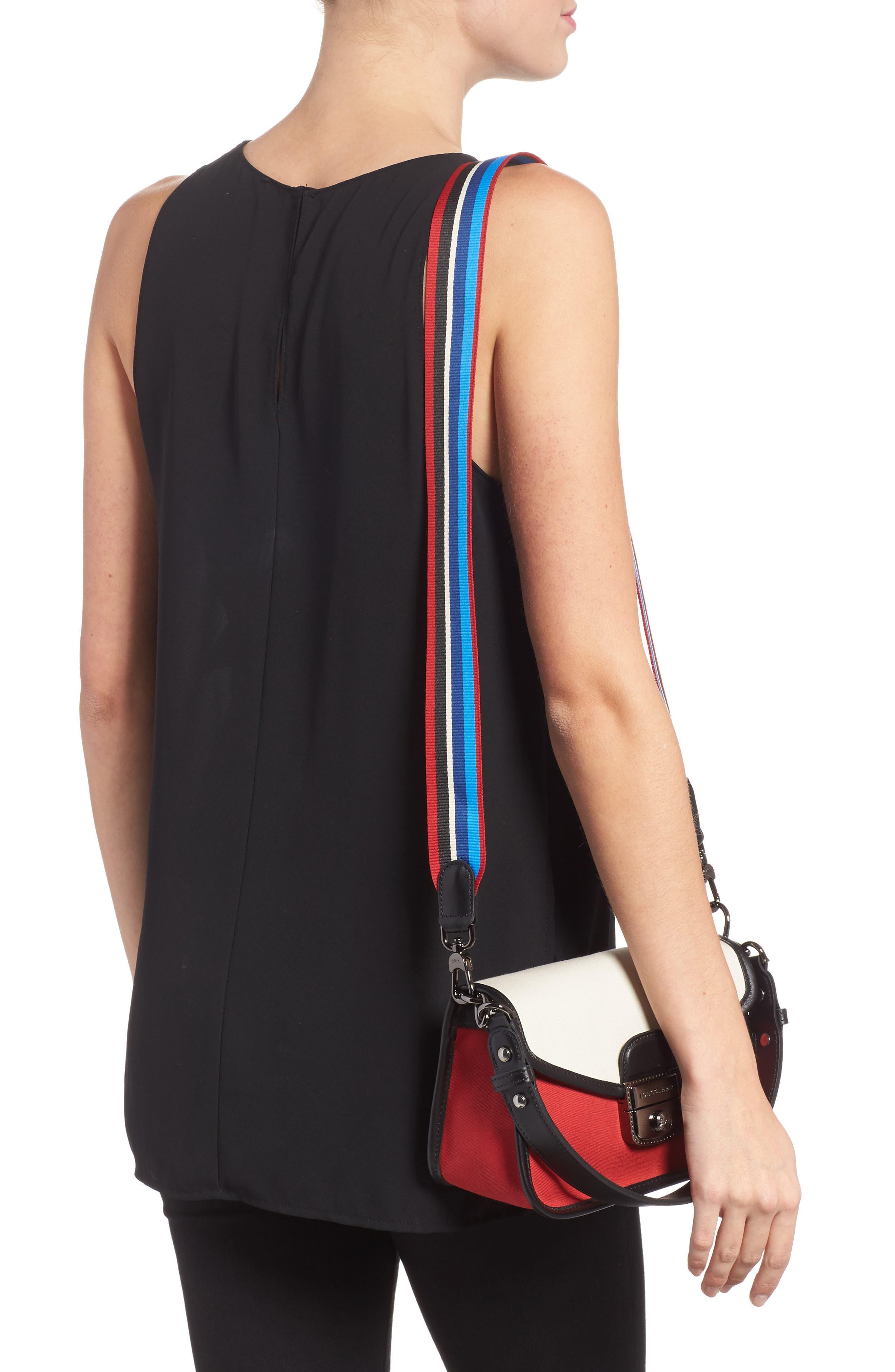 Small Mademoiselle Gabardine Canvas Shoulder Bag,                             Alternate thumbnail 2, color,